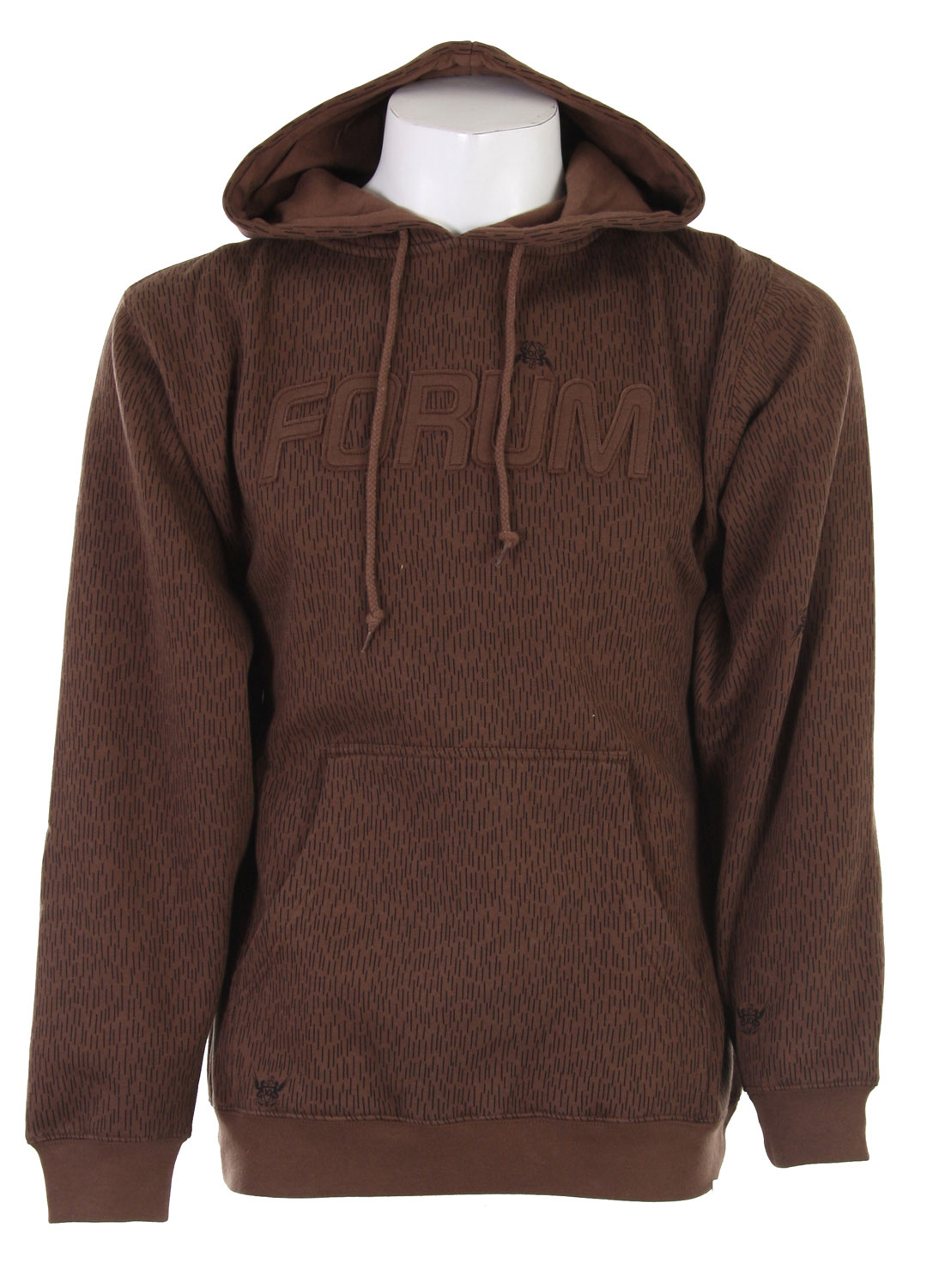 Put on this great Forum pull over hoodie and get out there. It looks great and keeps you warm as well! It features an embroidered Forum logo on the front, as well as a snazzy pattern all over. The roomy pocket in the front is big enough to keep all of your necessities or, if you want, just your hands when it gets cold. This is an awesome hoodie in a stylish pattern and classic cut.Key Features of the Forum Dash Camo Custom Hoodie Dash Camo: 80% Cotton/20% Polyester - $16.76