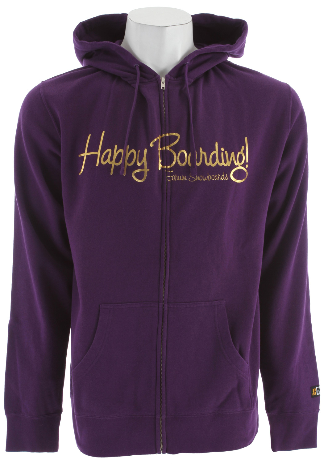 Key Features of the Forum Happy Boarding Hoodie: Zip hooded sweatshirt 80% cotton 20% polyester Slim fit Foil print on chest and back - $16.76