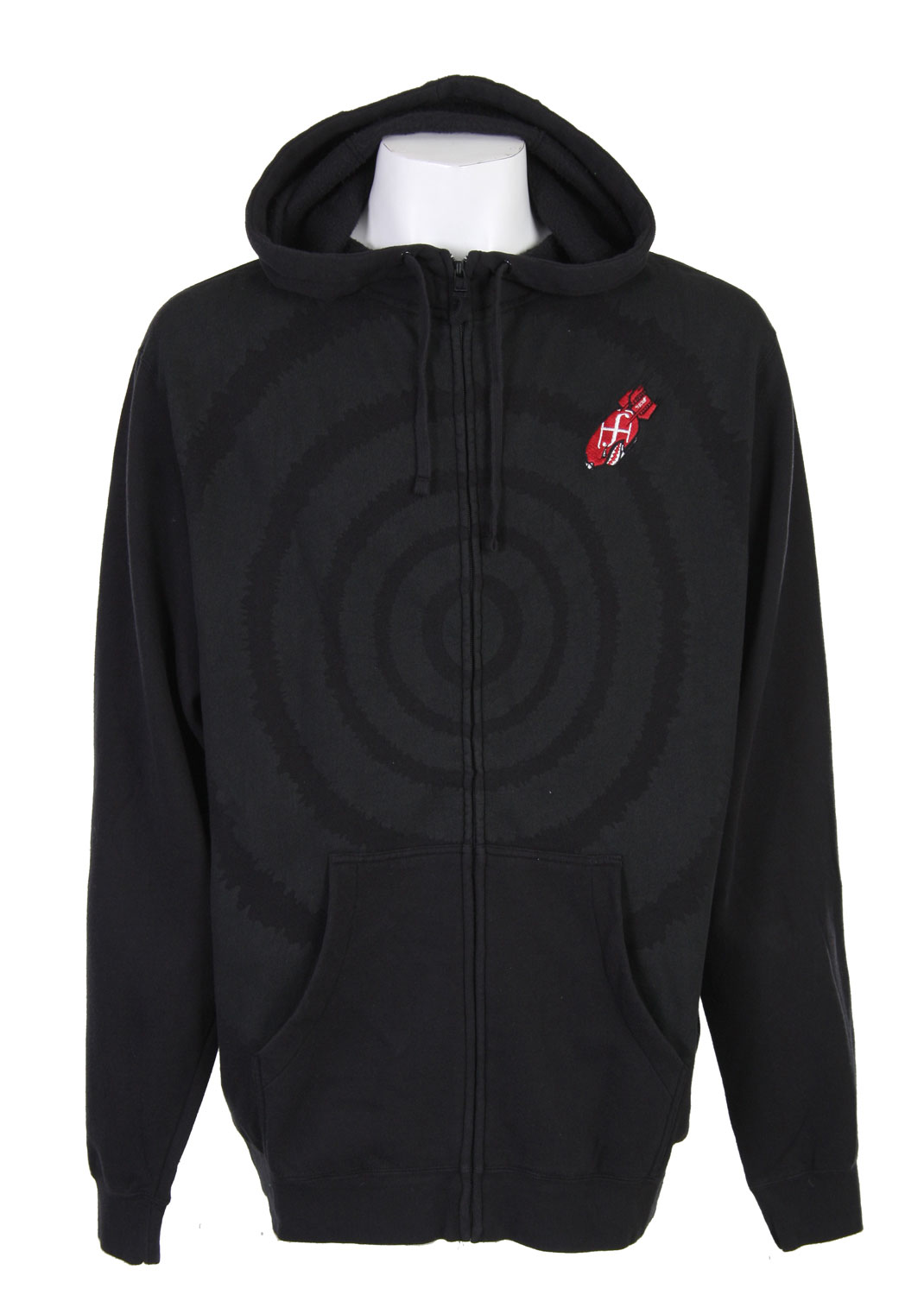 Feel like you always have a target on your chest? Well with this Forum Target Hoodie you actually will. You will have a giant target on your chest, it won't be nothing your not used to. The design is simple and that's what makes it so good looking, it's not to edgy and crazy. It conveniently zips up so you don't have to worry about pulling the sweater over your head all the time and messing up your perfect hair. It offers a ton of warmth in a small package and will have you prepared for those lack luster nights out on the lake or by the campfire.Key Features of The Forum Target Hoodie: Zip hooded sweatshirt 80% Cotton 20% Polyester Regular fit Stone washed High collar sweatshirt Chest embroidery Hidden mp3 pocket - $27.95