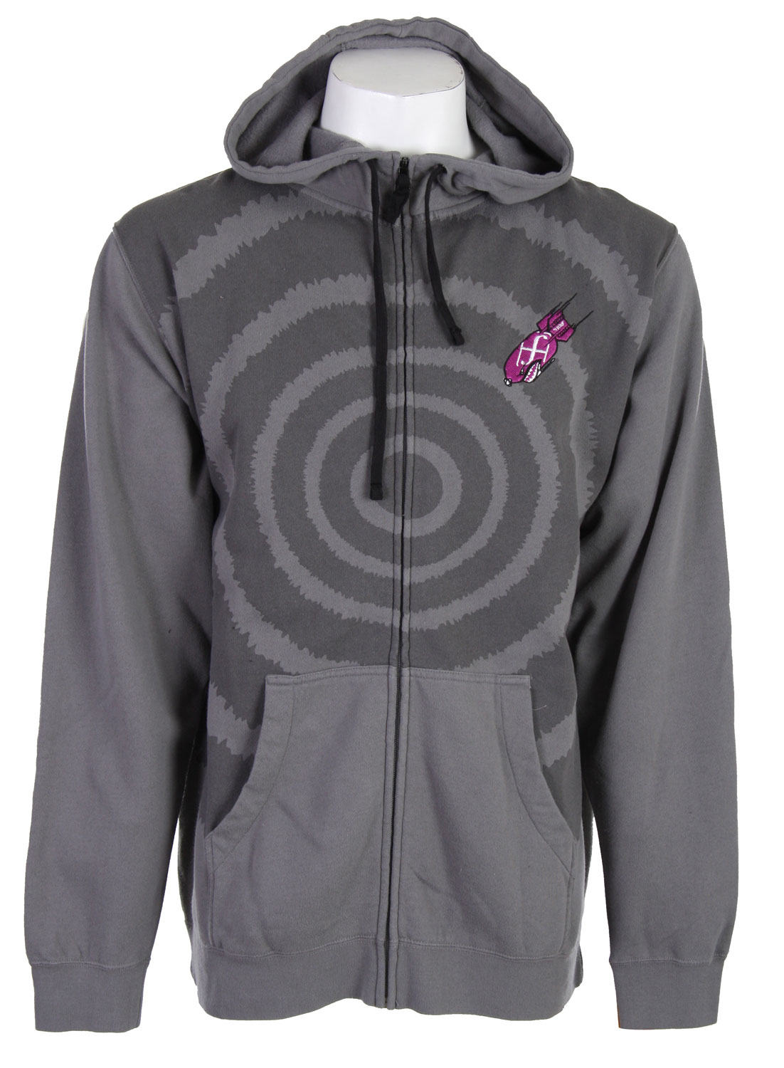 Feel like you always have a target on your chest? Well with this Forum Target Hoodie you actually will. You will have a giant target on your chest, it won't be nothing your not used to. The design is simple and that's what makes it so good looking, it's not to edgy and crazy. It conveniently zips up so you don't have to worry about pulling the sweater over your head all the time and messing up your perfect hair. It offers a ton of warmth in a small package and will have you prepared for those lack luster nights out on the lake or by the campfire.Key Features of The Forum Target Hoodie: Zip hooded sweatshirt 80% Cotton 20% Polyester Regular fit Stone washed High collar sweatshirt Chest embroidery Hidden mp3 pocket - $31.85