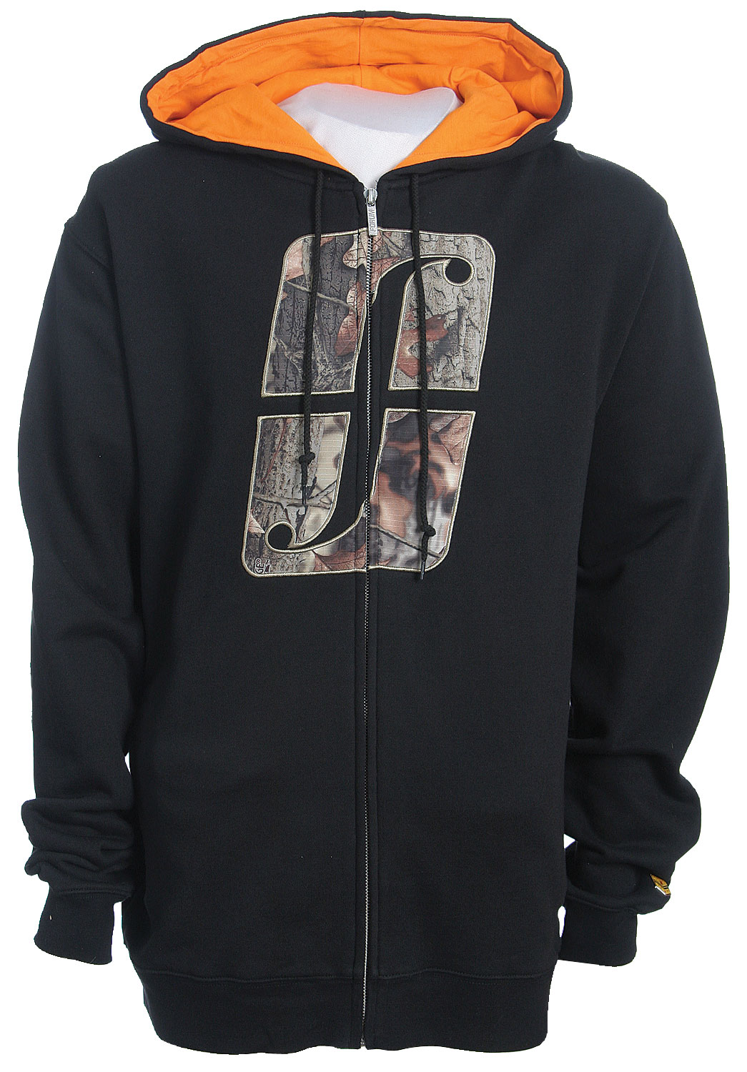 Listen up!  Forum has unleashed the Woodland Icon Zip Hoodie.  It is perfect for those sunny days on the slopes.  It's 80% cotton and 20% polyester, so it will definitely keep you comfortable when you are trying to get air.  Its Camo Forum icon on the chest brings mad style to the full zip.  Forget your gloves   No worries the Woodland Icon Zip Hoodie comes equip with hand warmer pockets to keep your fingers cozy.Key Features of The Forum Woodland Icon Full Zip Hoodie: BR.80% Cotton 20% Polyester  Woodland Camo Applique  Hand warmer pockets - $34.95