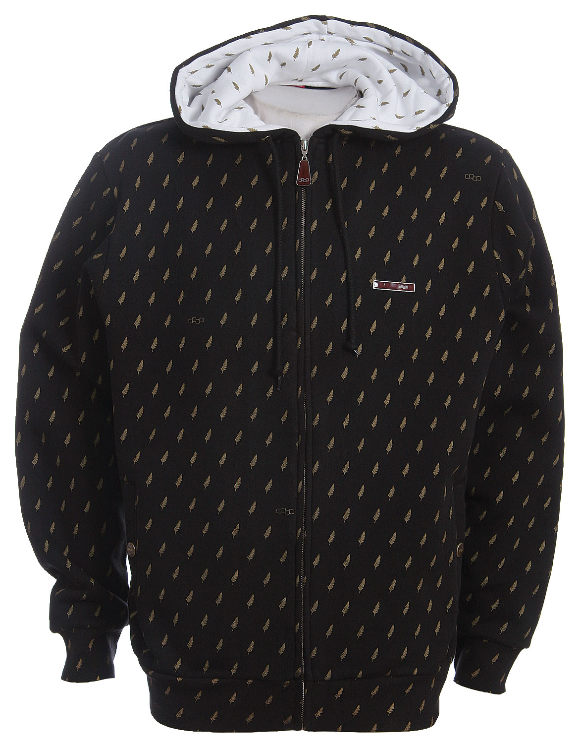 Snowboard The Special Blend Gold Label Fleece Hoodie has a Felt Leather Chest Application, with Paisley Meshed Lined - $16.95