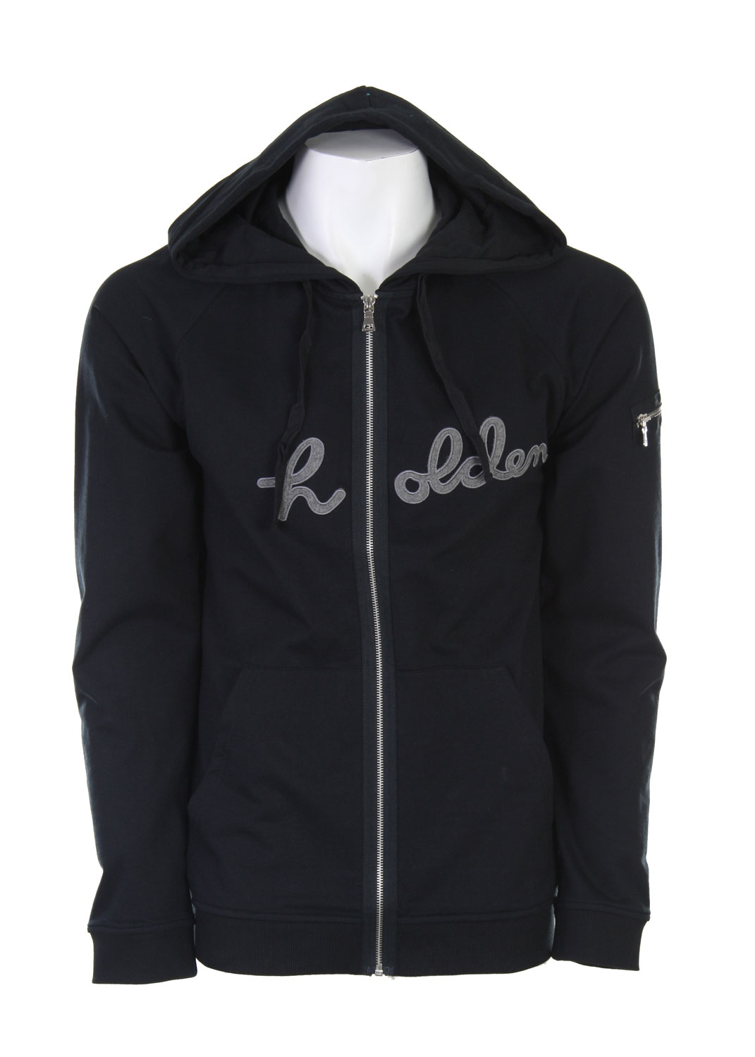 Do you hate how some hoodies make you look over weight because they are so bulky? Well if you hate bulky hoodies then you will love this Holden Logo Full Zip Hoodie. It's not made out of a ton of bulky material, it's just made out of some quality material, which means they could use less of it, and still acquire the same warmth as a bulky hoodie. This simple and sleek fitting design will really accent how great your body looks and won't add phantom weight to your frame. If you like to show off your great looking figure and stay warm while doing so, then this is the perfect hoodie for you.80 % Cotton / 20% Polyester - $37.95