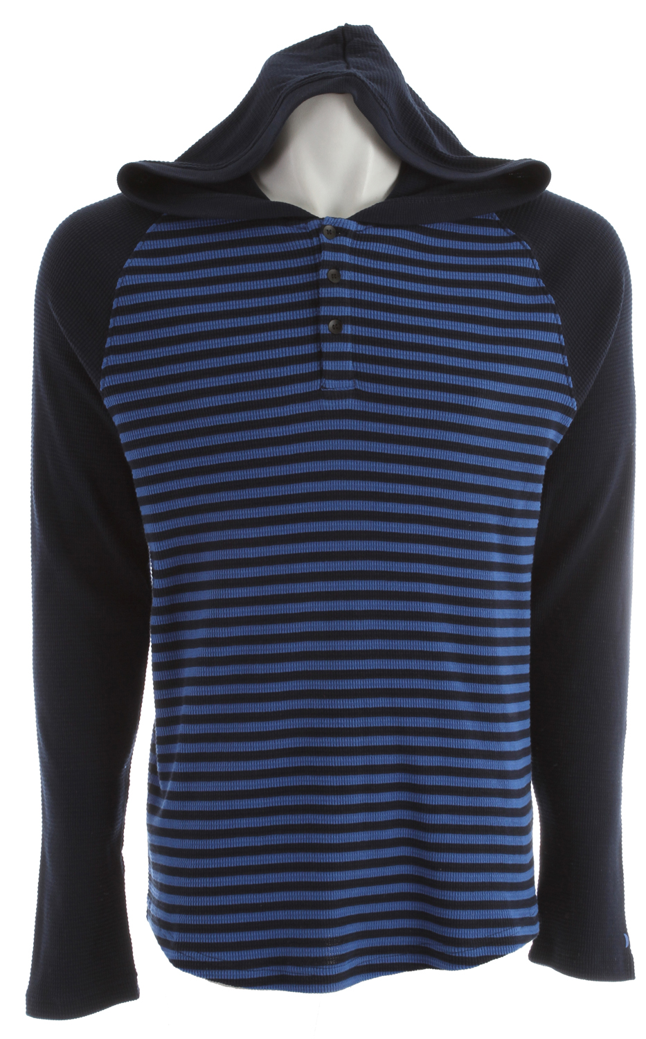Surf Key Features of the Hurley Dawner L/S Hoodie: Regular Fit 60% Cotton/40% Polyester Longsleeve, striped pullover hooded knit - $31.95