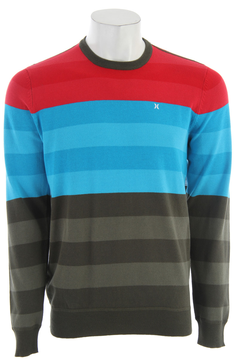 Surf Key Features of the Hurley Engine Sweater: Regular fit 100% Cotton 12gg jersey stitch Classic engineered stripe pullover sweater with seasonal colorways. - $38.95