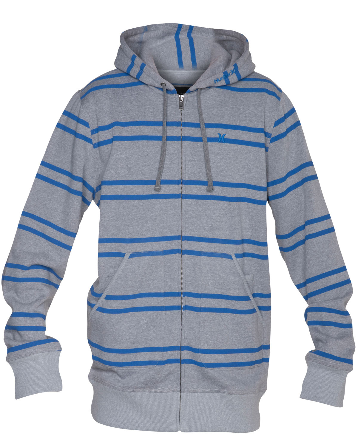 Surf Key Features of the Hurley Foundry Stripe Hoodie: Regular Fit 55% Cotton/45% Polyester Workwear inspired lower patch pockets Printed double stripe heathered zip Icon embroidery - $44.95