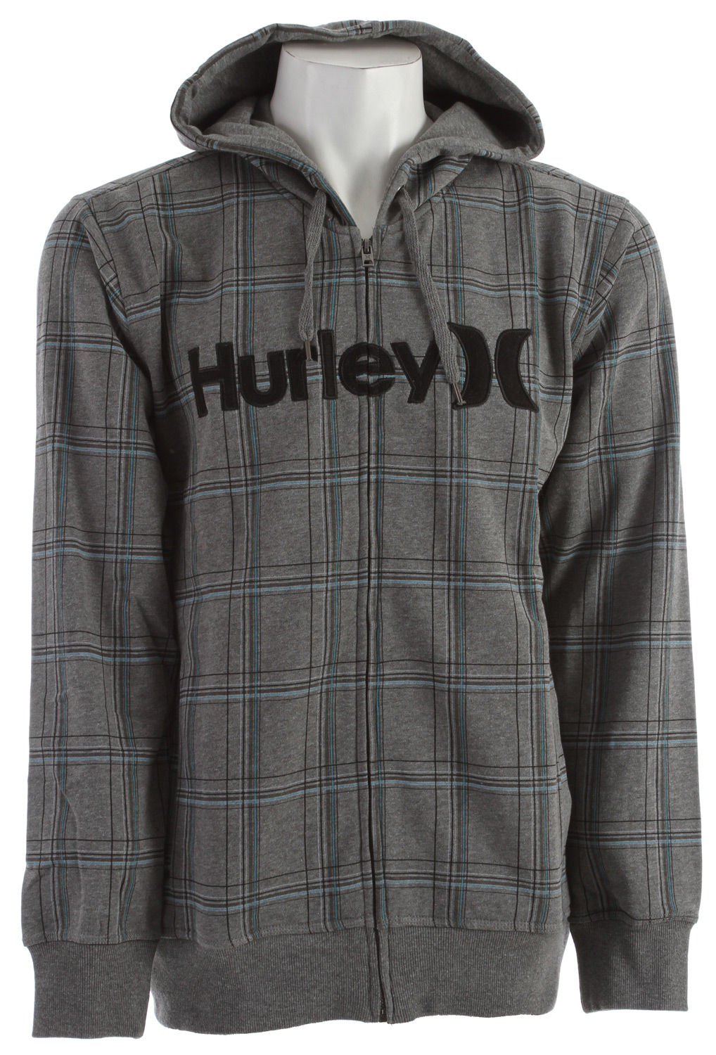 Surf Key Features of the Hurley Gravitation Hoodie: Regular Fit 80% Cotton/20% Polyester 300g Fleece. Zip fleece with plastic molded zipper Allover prints, Hurley applique at chest. - $39.16