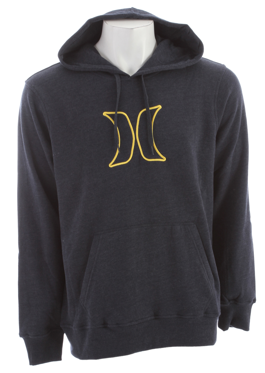 Surf Key Features of the Hurley Icon Pullover Hoodie: Regular Fit 300gm Pullover Fleece; 60% Cotton/40% Polyester Woven icon loop label and embroidered icon branding. - $41.95