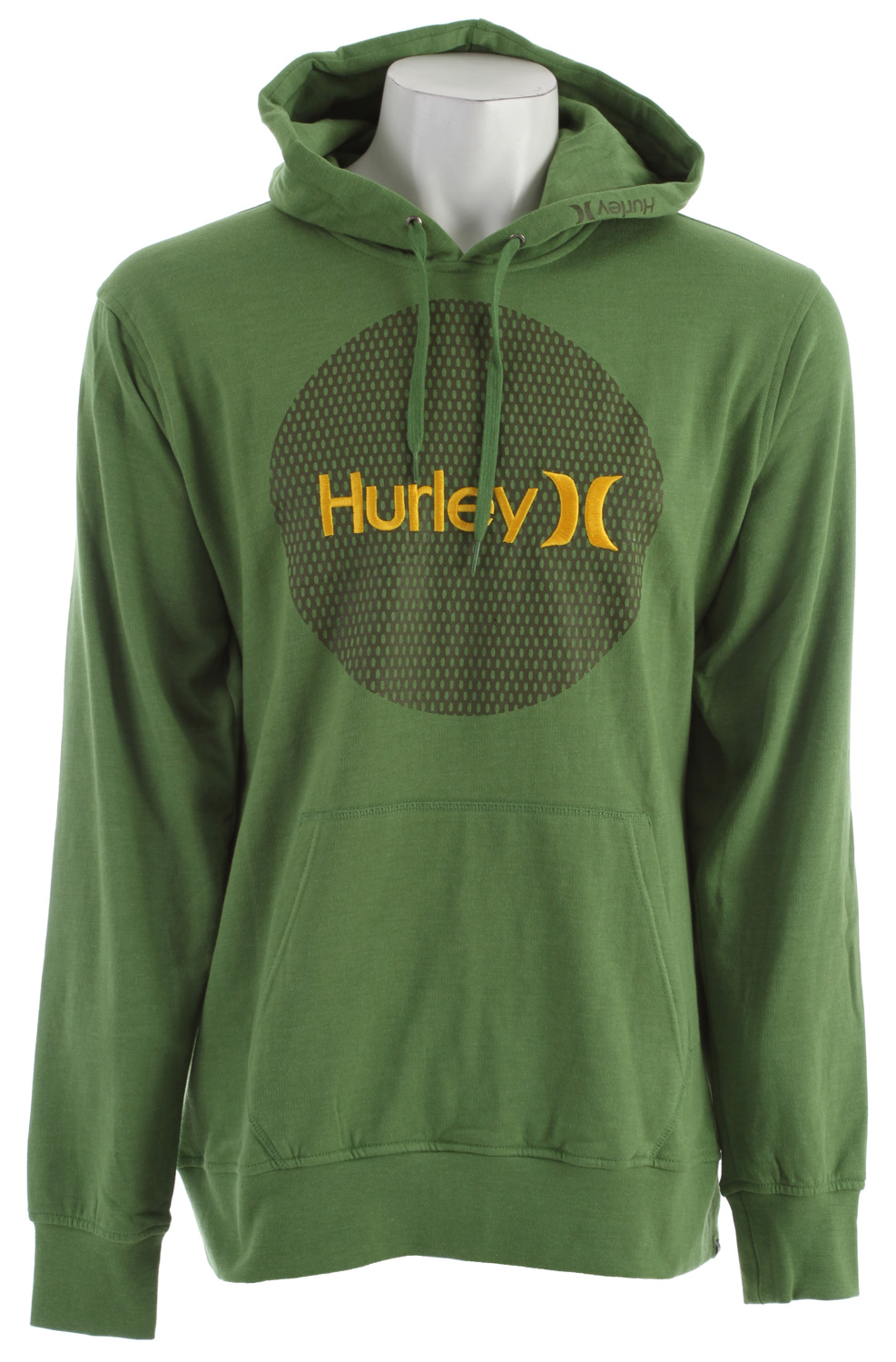 Surf Key Features of the Hurley Krush & Only Mesh Hoodie: Regular Fit 220gm Pullover Fleece; 60% Cotton/40% Polyester Woven icon loop label, soft-hand print, and satin stitch embroidery. - $34.95