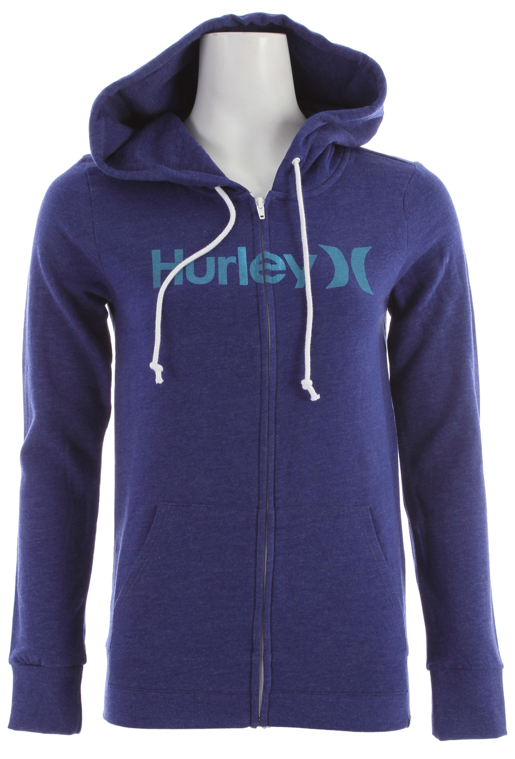 Surf Key Features of the Hurley One & Only Slim Fleece Zip Hoodie: Cozy slim fleece zip hoodie with kissing zipper Fleece hood lined With discharge print and h icon clip label 60% cotton/40% polyester. - $31.95
