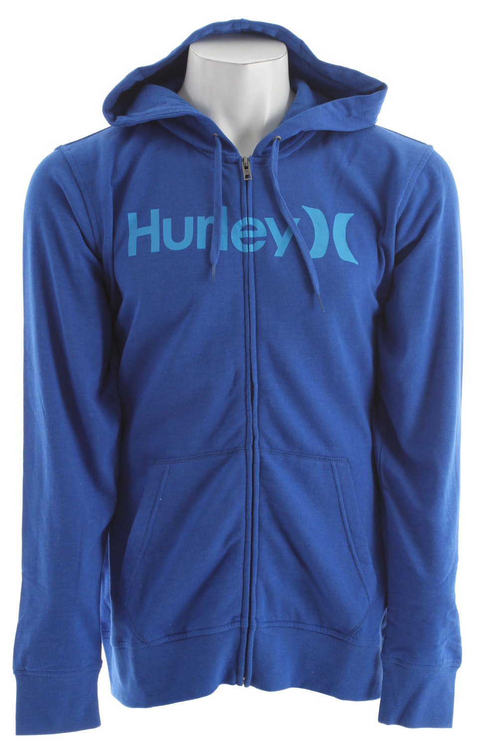 Surf Key Features of the Hurley One & Only Zip Hoodie: Zip Fleece 220gm Fleece; 60% Cotton/40% Polyester Woven icon loop label and soft-hand print. - $34.95