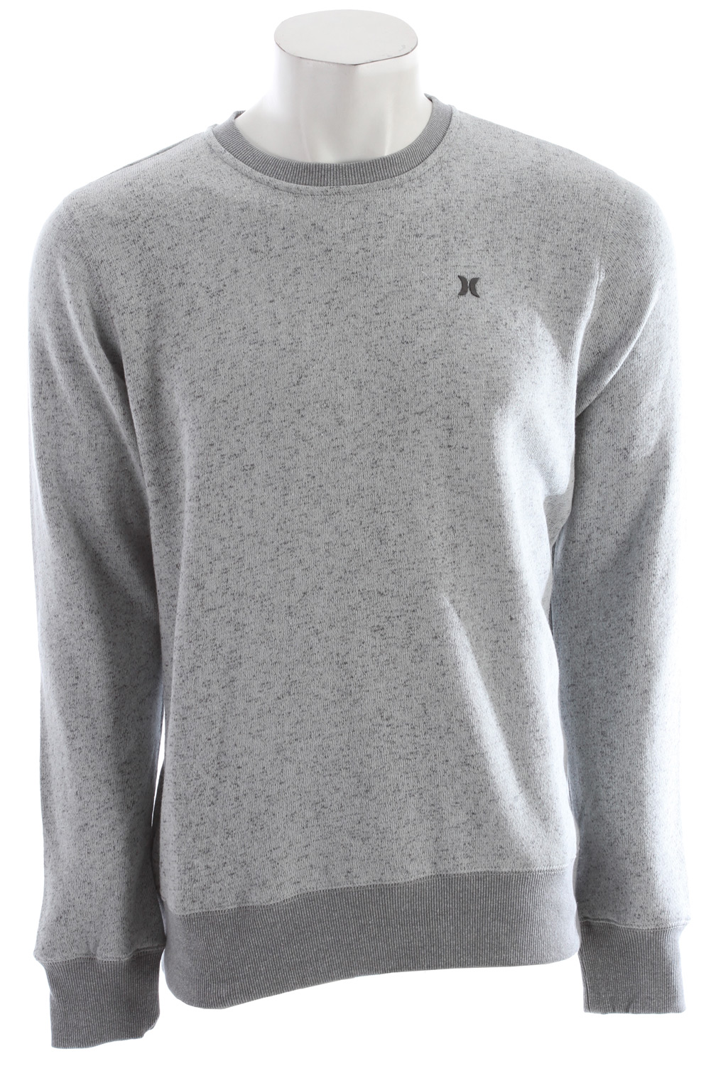 Surf Key Features of the Hurley Retreat Crew Sweatshirt: Regular Fit 60% Cotton/40% Polyester 290g Yarn Dye Slub contrast brush back French Terry. Crew neck fleece with high-density icon at left chest. - $34.95