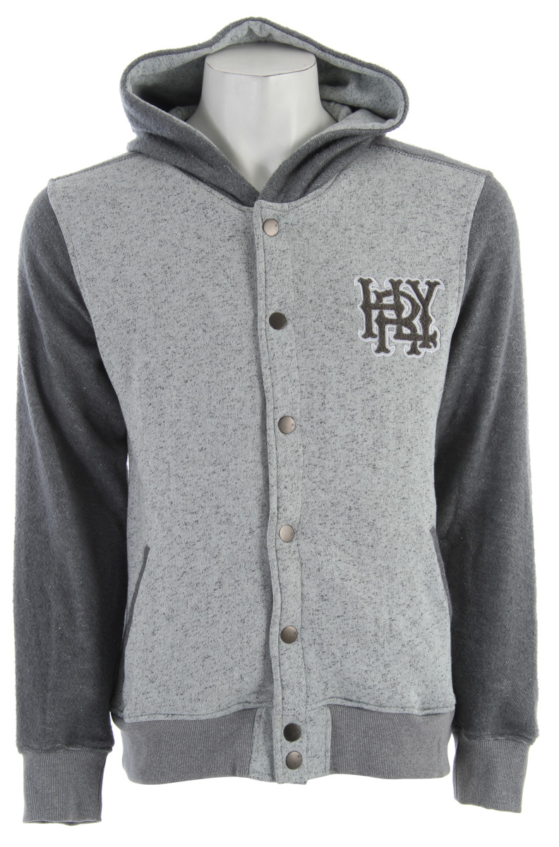 Surf Key Features of the Hurley Retreat Grade Hoodie: Regular Fit 60% Cotton/40% Polyester 270gm Collegiate fleece hooded jacket with Hurley applique on left chest. - $55.95