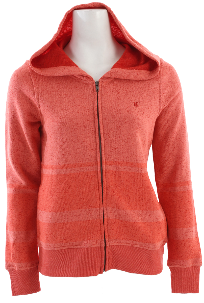 Surf The Hurley Retreat Zip Hoodie offers casual styling you can comfortably wear almost anywhere, and stay warm while doing it. Its full-length front zipper makes it simple to throw on at the first hint of a windy breeze, and makes venting simple too, keeping you warm, dry, and comfortable no matter where you wear it. The Hurley Retreat is made from a breathable 60% cotton, 40% polyester fabric that ensures your needs are met, and offers the durability necessary to keep up with your active life.Key Features of the Hurley Retreat Zip Hoodie:  Fleece zip hoodie with side seam pockets  Self doubled hood  Two-color fabric  Gel stripe art and h icon embroidery  60% cotton/40% polyester. - $32.95