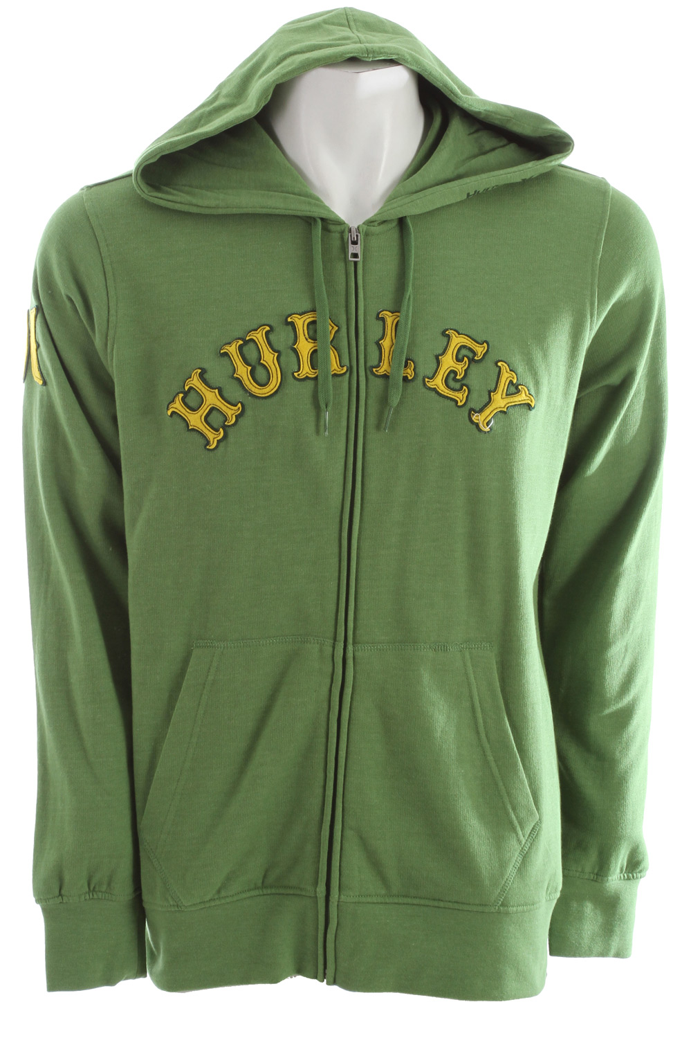 Surf Key Features of the Hurley Shiloh Zip Hoodie: Regular Fit 220gm Zip Fleece; 60% Cotton/40% Polyester Woven icon loop label and felt applique branding on chest and sleeve. - $38.95