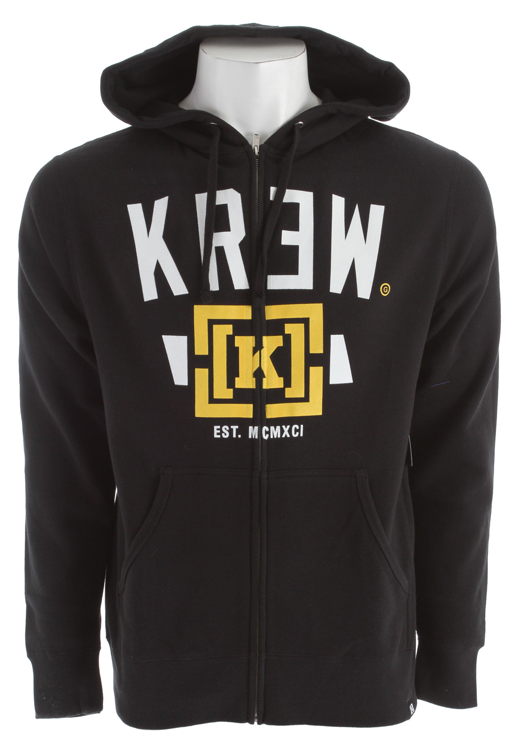 Key Features of the KR3W Lock Up Hoodie: 80% Cotton/20% Poly Regular Fit - $38.95