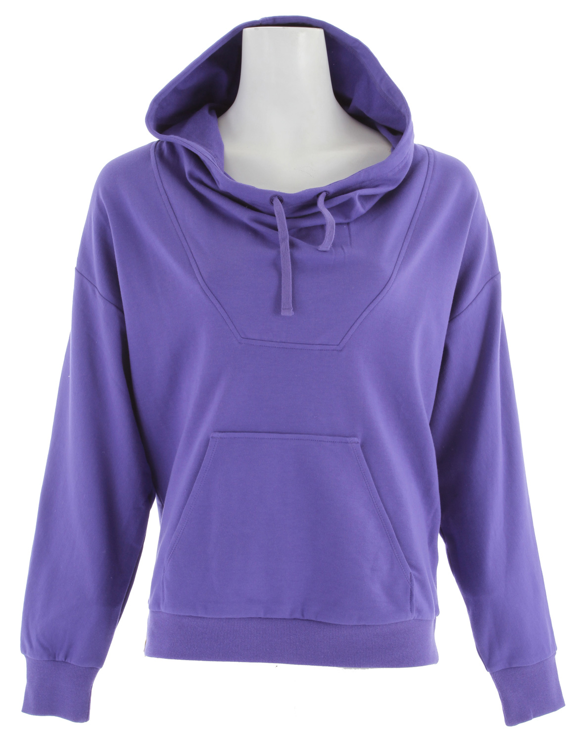 "The Lole Terry Cardigan Hoodie is a hoodie designed for women that offers comfort, style and practicality.  The Terry Cardigan Hoodie may in fact be the most comfortable hoodie you ever wear! It has a dolman sleeve design which makes it very easy to put on, along with its pullover design.  The hood of the Lole Terry Cardigan Hoodie features a pull string so that it can cinch down close to your face for extra warmth and has a hand warmer pocket sewn to the front.Key Features of the Lole Terry Cardigan Hoodie:  Pullover top with hood  Dolman sleeve with rop shoulder  Adjustable hood opening  Rib insert at cuffs and hem  Patch front pocket  Length 25"" - $61.95"