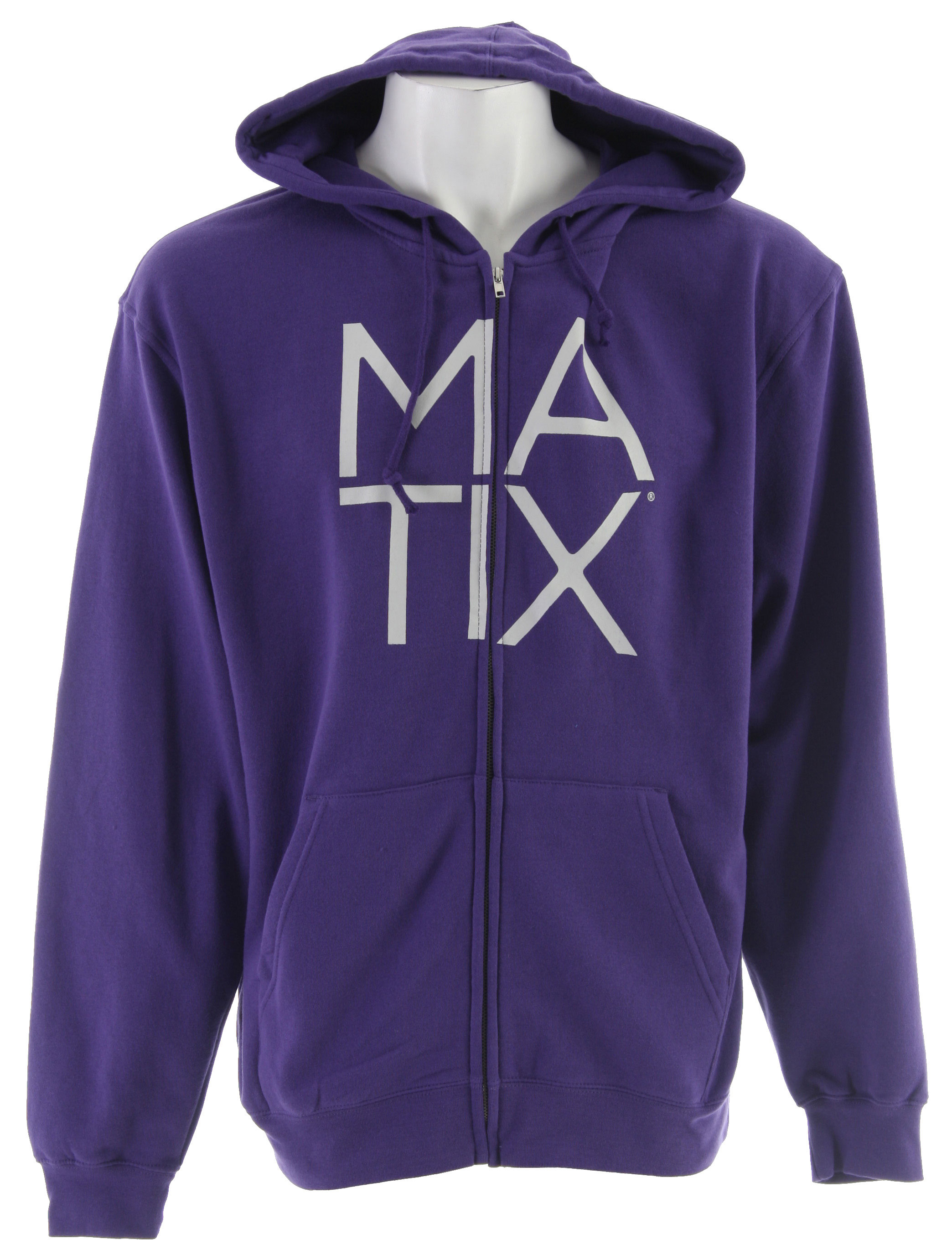 Are you looking for a hoodie that doesn't lose its shape you wash it one time. You will love the Matix Monostack Purple Hoodie. The ease of not having to wear a big coat when you can just throw on your hoodie and keep it zipped or open and if it gets windy or cooler it has the drawstrings too. I wear mine waiting for the bus in the morning or walking my dogs. And it feels so soft you forget you even have it on. Inside or outside you'll be wearing this all the time.Key Features of the Matix Monostack Hoodie: 80% Cotton/20% Poly french terry Center chest inkprint with monovert back print - $31.95
