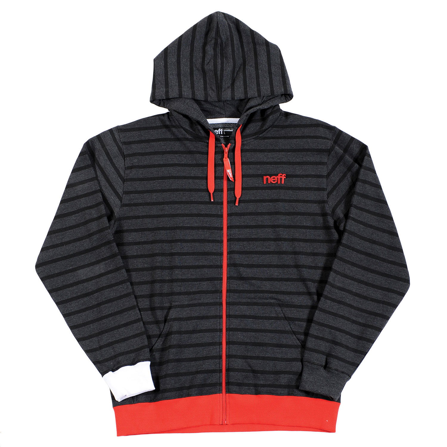 Skateboard Key Features of the Neff Daily Stripe Hoodie: 80% Cotton, 20% Polyester - $50.00