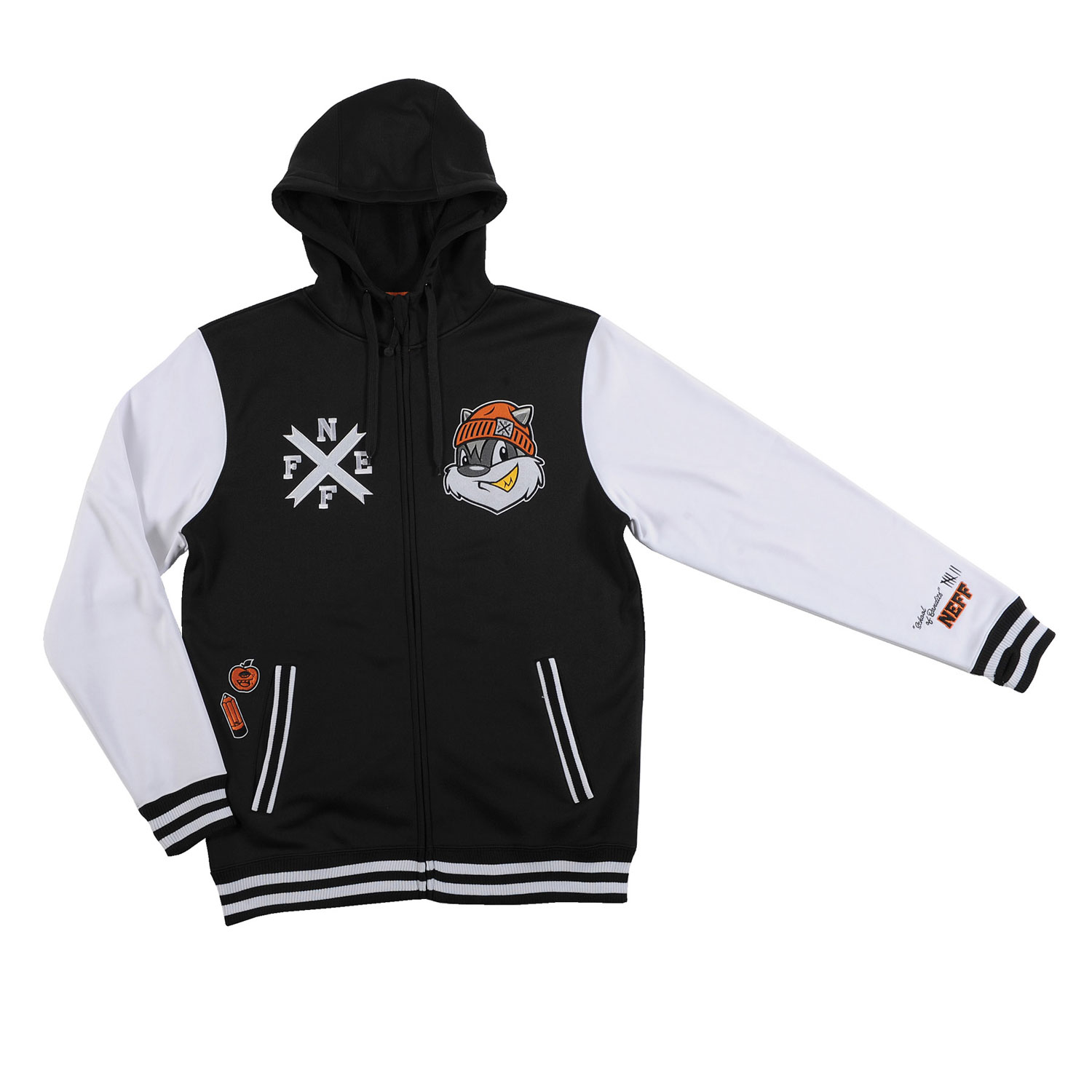 Skateboard Key Features of the Neff Frosh Hoodie: 100% Poly Bonded Fleece - $75.00