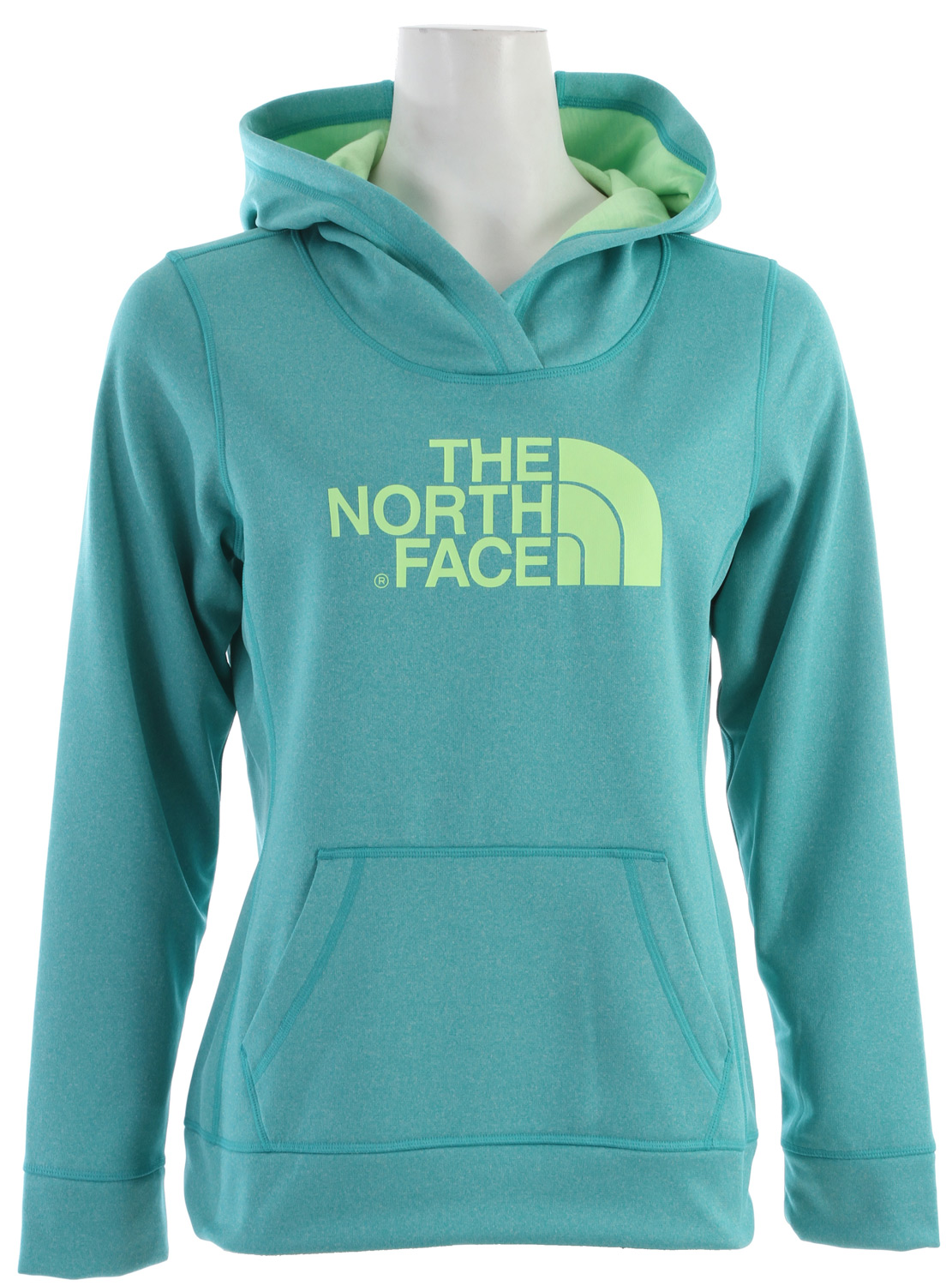 "The Fave-Our-Ite collection is perfect for wearing to and from races or the gym, and during recovery. Key Features of the The North Face Fave-Our-Ite Pullover Hoodie: Relaxed fit Kangaroo pocket with interior media pocket Thumb loops Three-piece hood with liner Center back: 26"" Fabric: 210 g/m2 (6.2 oz/yd2) 100% polyester jersey-faced fleece—UPF 50 - $38.95"