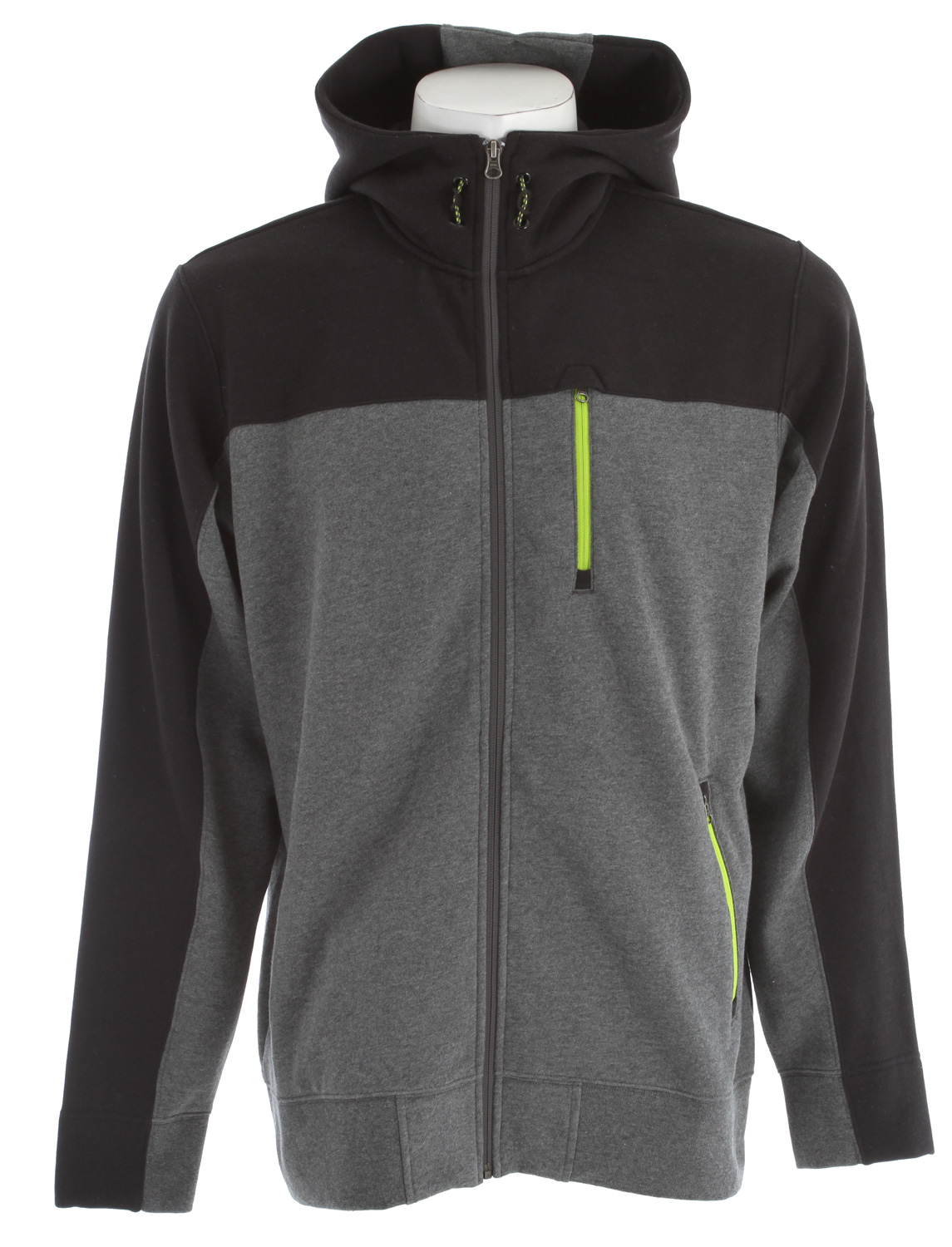 Key Features of The North Face Salz Full Zip Hoodie: Soft, comfortable, easy-care fabric Contrast color blocking at shoulders, sleeves, hood and zipper garages Reverse-coil zips in contrast color at hand pockets and Napoleon pocket Adjustable drawcord system at hood Embroidered logo at left sleeve and right shoulder / fabric: 80% cotton, 20% polyester fleece - $59.95