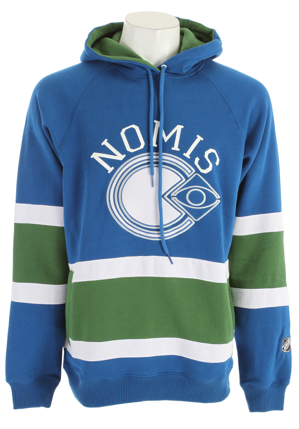 Snowboard Support your local team and your real favorite sport (snowboarding) with this awesome Nomis hoodie. Key Features of the Nomis NHL3 Hoodie: Material: cotton blend Fit: regular - $62.95