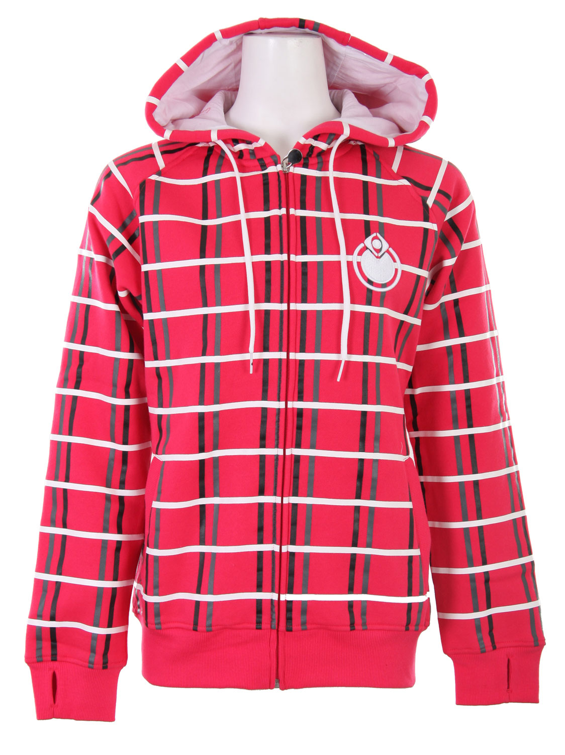 If you are looking for a statement piece, this is it. With its bold design and contrasting colors, the Nomis OG Plaid Hoodie will get you noticed. Made from 80% cotton and 20% polyester, this hoodie will keep you warm and comfortable all day long. It full zip design, lined hood, and kangaroo pockets make it functional in addition to eye catching. The Nomis OG Plaid Hoodie is a funky addition to any woman's wardrobe.Key Features of the Nomis OG Plaid Hoodie Rah Red: 80% Cotton/20% Poly - 270 gm - $22.68