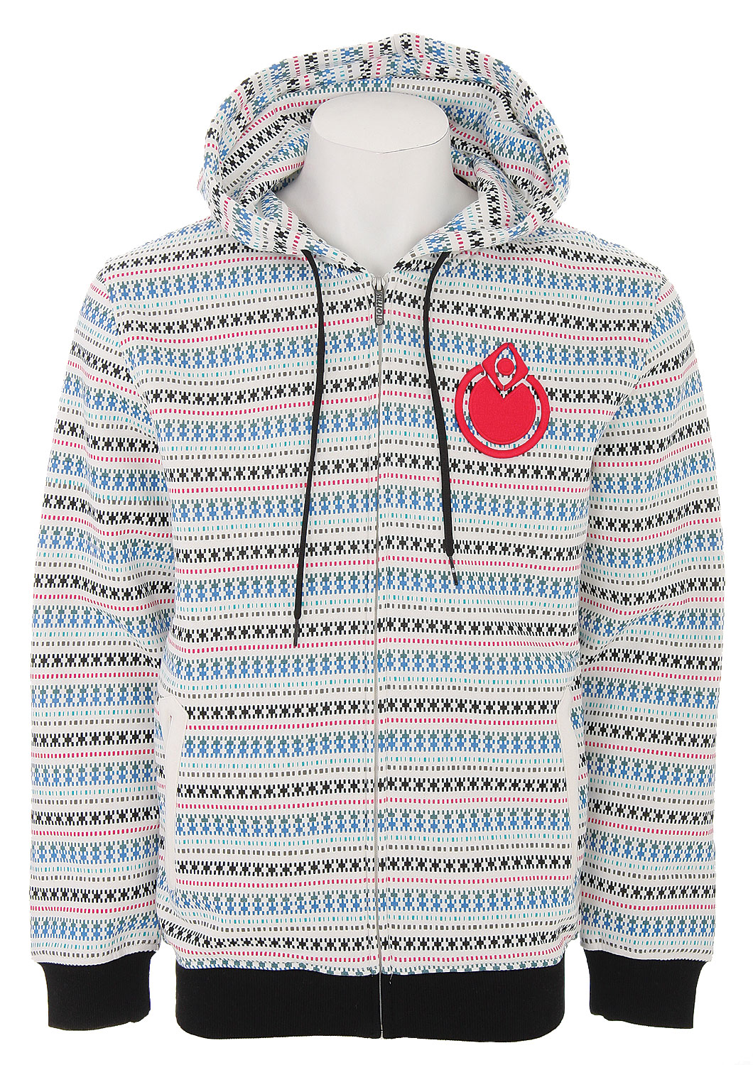 The Nomis Simon Skool Hoodie - 80% Cotton/20% Polyester / Waterbased Print / Full Zip - $34.95