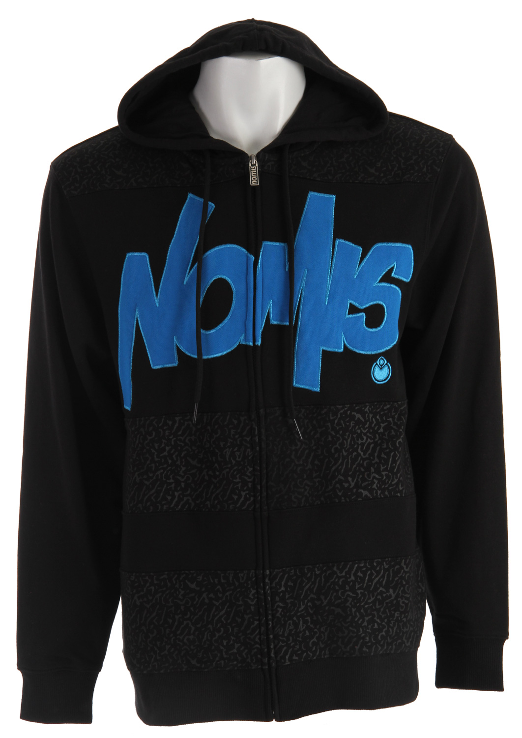 Snowboard This Nomis Tony hoodie is a great hoodie on and off the slopes. The hoodie is made of a warm 60%-40% cotton polyester blend fleece. It is great to wear spring snowboarding and to wear around to show off your snowboarding style. The hoodie has a great feel and a great cut. It is just the right length for warmth. The hoodie is roomy but not oversized. The Nomis Tony hoodie has a great look with a great name.Key Features of the Nomis Tony Hoodie: 60% cotton/40% poly fleece - $57.95
