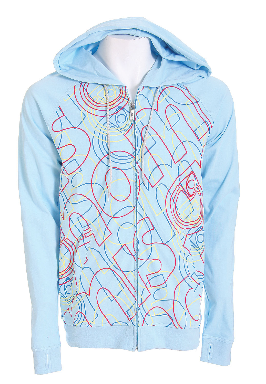 Looking to express your light side? Well this Nomis Triz T Hoodie pulls of a real easy on the eyes look. It offers really vibrant colors that have a calming effect to them. The hoodie is a real light weight product so it's perfect for summer nights that you don't want a ton of warmth. It's got a real modern looking graphic design on the entire front that really gives in a unique and great look. It's the perfect package of looks and comfort that you can truly express that lighter side of yourself.Key Features of the Nomis Triz T Hoodie Crystal: 100% Cotton - $38.95