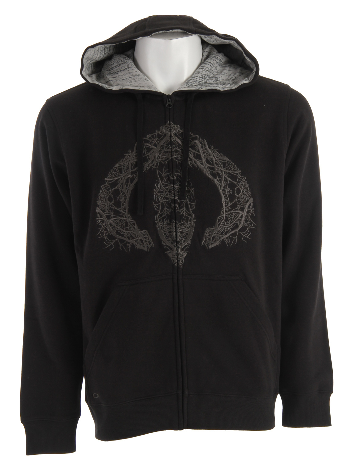 Full zip hoodie with marsupial hand pockets, contrast print hood lining and front embroidery. 83% Cotton/17% Polyester - $48.95