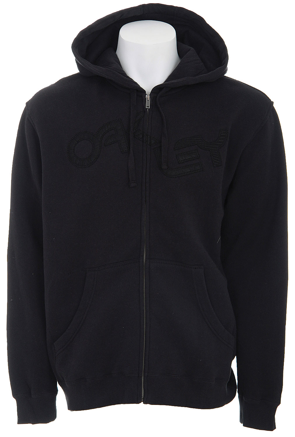 The Oakley Vintage Hoodie is a classic inspired sweater for anyone! It is a full zip hoodie made of cotton and polyester. This particular design does not only include the jersey lined hood for comfort but comes in a fade resistant black color!Key Features of The Oakley Vintage Hoodie: Full Zip Hoody with Marsupial Hand Pockets Jersey Lined Hood Felt Applique Embroidery 80% Cotton / 20% Polyester Regular Fit - $25.16