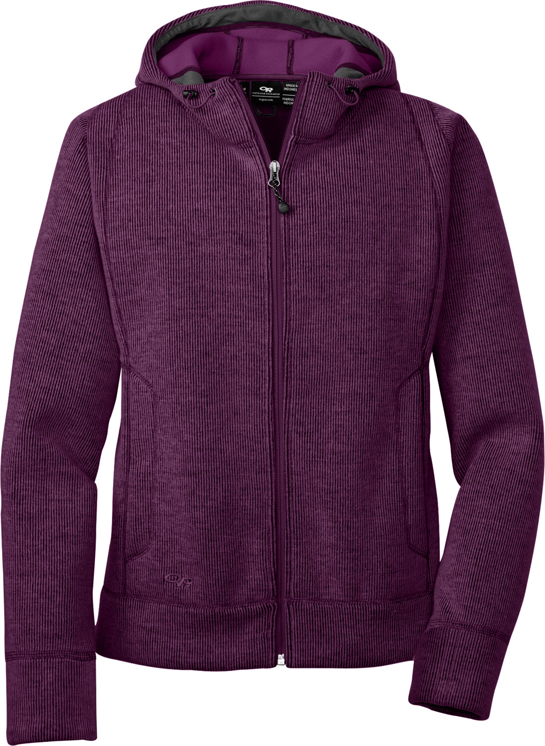 Sweater-style, fleecy mid or outer-layer for warmth in blustery conditionsKey Features of the Outdoor Research Salida Fleece Hoodie: Alpin-wool Plus fabric; wool/nylon blend exterior/wicking polyester interior Front adjustable hood Two handwarmer pockets Internal snap-closure media pocket - $94.95