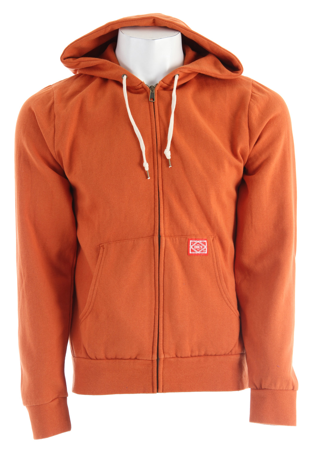 Key Features of the Obey Trademark Zip Hoodie: Slim fit front Hooded fleece with classic trademark labeling 55%/45% polyester - $48.95