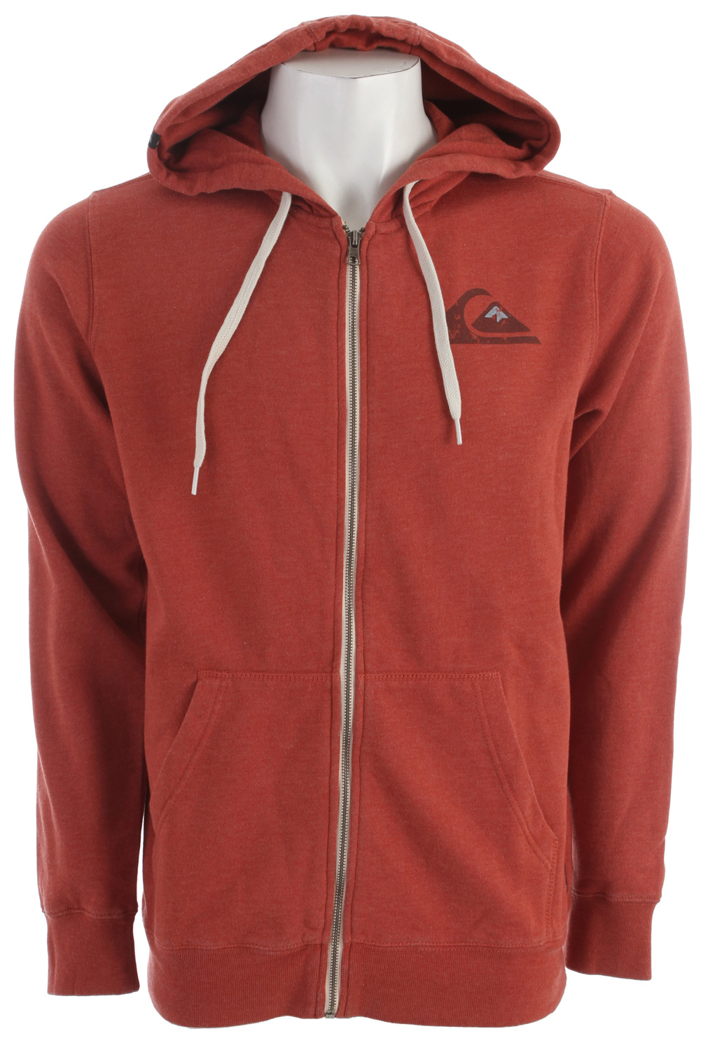 Surf Key Features of the Quiksilver Basiko Hoodie: 240gsm 60% cotton 40% polyester Full zip fleece with self hood liner Left chest screen print Exterior woven labels Contrast drawcords Ribbed cuffs/hem Pigment garment dye - $52.00