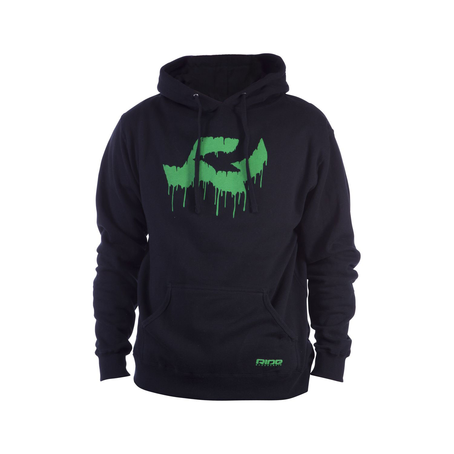 Key Features of the Ride Logo Drip Pullover Hoodie: 280g 80% Cotton / 20% Poly Center Front Screen Print Pocket Screen Print - $29.95