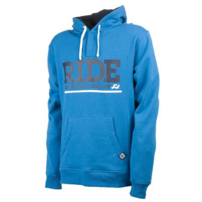 Keeping you warm & cozy all day long.Key Features of the Ride Logo Pullover Hoodie Electric Blue:300g, 80% Cotton / 20% Poly Slim Fit Henley Style Neck Center Front Screen Print Woven Label - $28.95