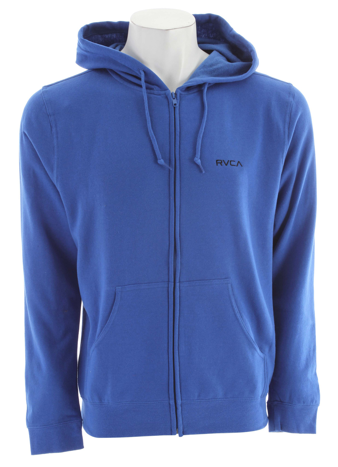 Key Features of the RVCA Little RVCA Zip Hoodie: Cotton Polyester light weight fleece hooded pull over Rib cuffs and waistband Frontleft chest embroidery with inside neck print - $35.95