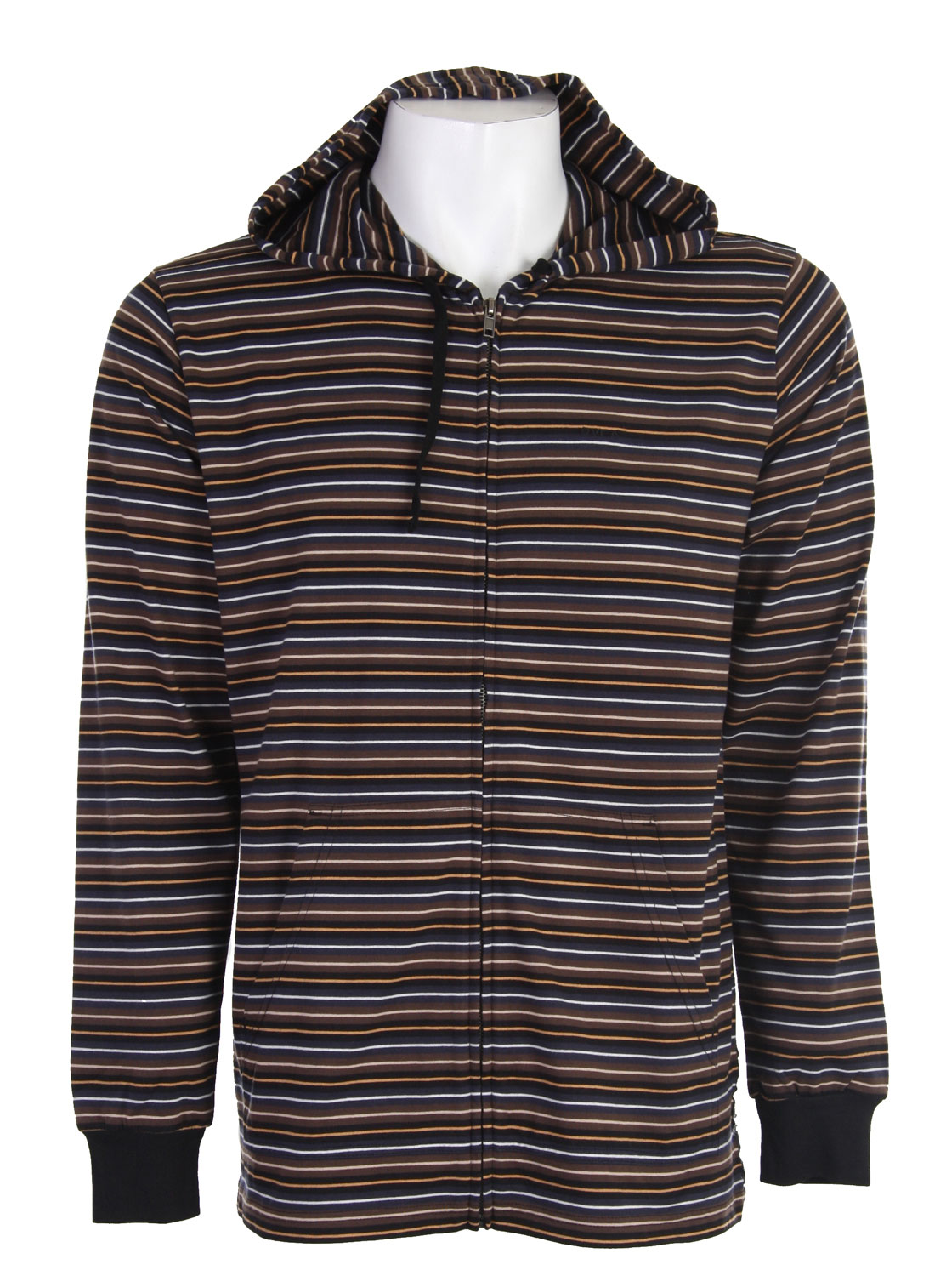 This striped zip up hoodie from RVCA is an instant classic. It features an embroidered RVCA logo on the left side as well as a woven label at the bottom left side seam. The cotton/polyester mix makes for a comfortable and durable material that will last a long time while still feeling great. The RVCA Rally Stripe Hoodie matches just about anything and looks great no matter what. You're going to want to wear it all the time. Just remember to wash it, please.Key Features of the RVCA Rally Stripe Hoodie: Cotton/Polyester jersey yarn-dyed stripe zip front hooded long sleeve shirt Drawcord at hood opening RVCA embroidery at left chest Woven label at bottom left side seam - $32.95