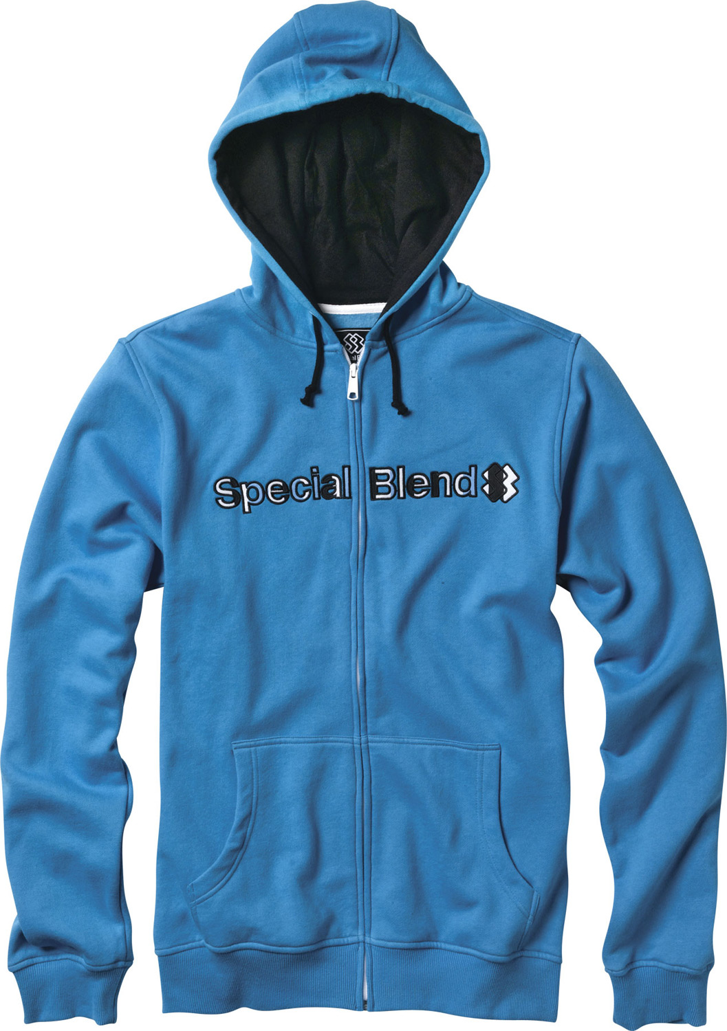 Special Blend Blended Zip Hoodie. Exactly as the name says, this hoodie is a special blend of mostly cotton and a hint of polyester. The mid-weight insulation makes the Special Blend Zip Hoodie great for any situation from snow to rain to windy. Even if it's just a bit cool- this hoodie has you covered (literally . The Special Blend Hoodie also comes with kangaroo pockets to provide even more warmth if the time calls for it.Key Features of the Special Blend Blended Zip Hoodie:  Full zip hooded fleece   Freedom fit  80% cotton 20% polyester, 300 gms.  Screenprint art - $27.95