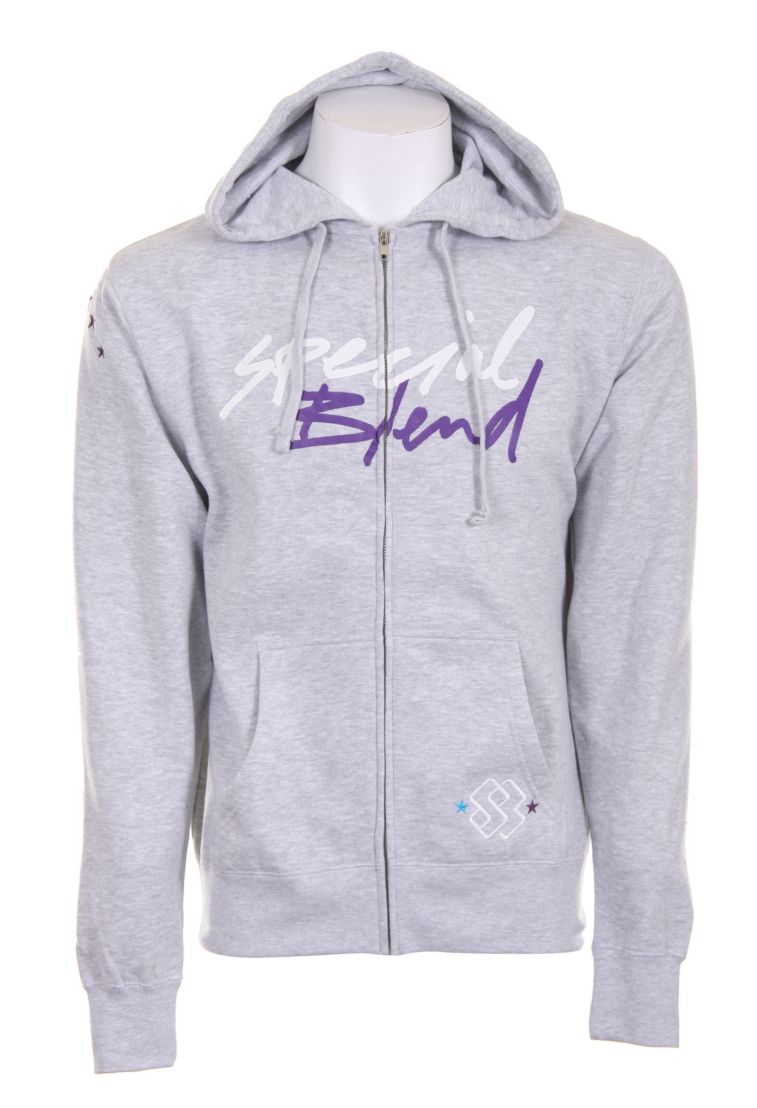 Skateboard The Special Blend Cursive Full Zip Hoodie is an overly comfortable hoodie that fits perfectly because of the stylish cut. The brand name Special Blend across the chest in two toned cursive and simple embroidery on the hand pocket and one of the sleeves keep this hoodie from being too plain, yet it is simple enough to not look obnoxious. This sweatshirt is great for a day in the snow or hanging out at the skate park.Key Features of The Special Blend Cursive Full Zip Hoodie: 80% Cotton / 20% Polyester, 210gm Slim Fit Chest Screen Print Embroidery On Hand Pocket and Sleeve - $24.95