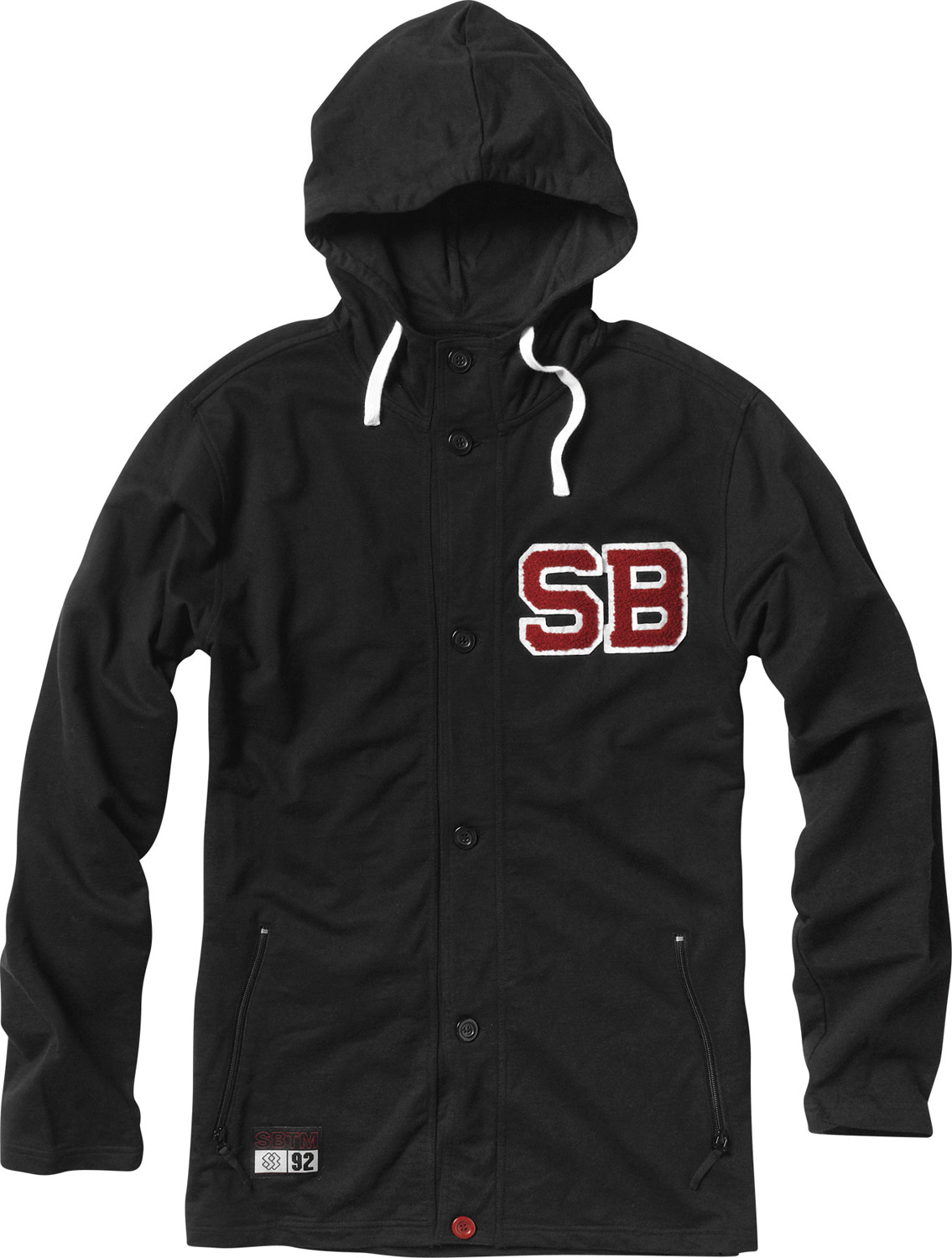 Key Features of the Special Blend Pregame Hoodie: Button-up cardigan style hoodie Freedom fit 100% Cotton French Terry 300g Chenille patch at left chest Zippered pockets - $44.95