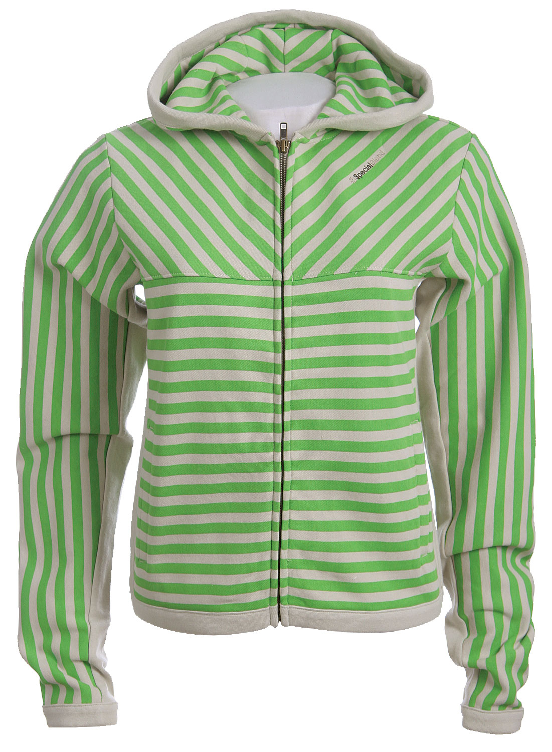The Special Blend Stripe Women's Zip Hoodie is 80% Cotton / 20% Polyester - 360gm - $14.95