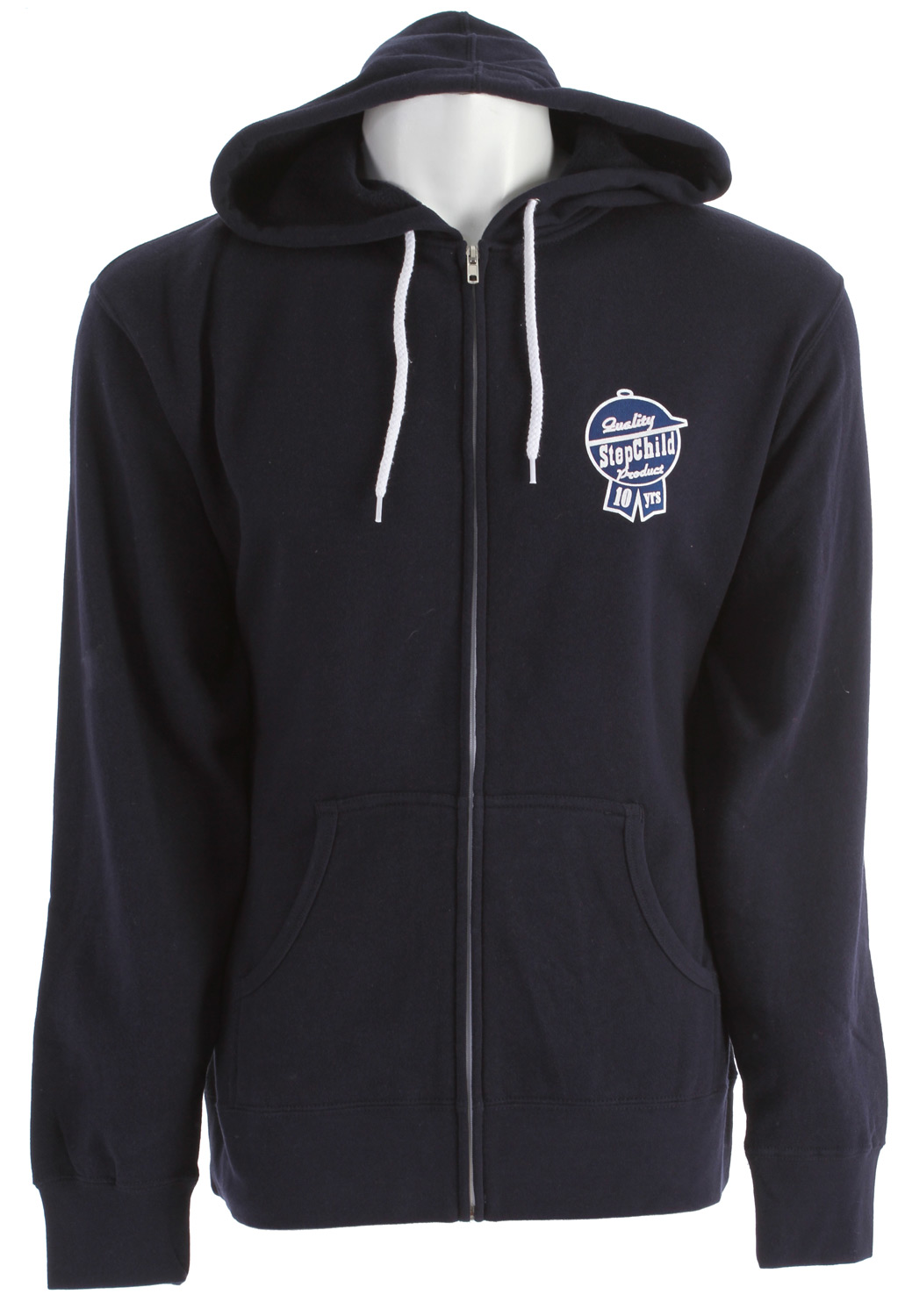 Guns and Military Key Features of the Stepchild Latchkey Fleece Zip Hoodie Navy: Light weight fleece Screened logo on chest/back - $33.95