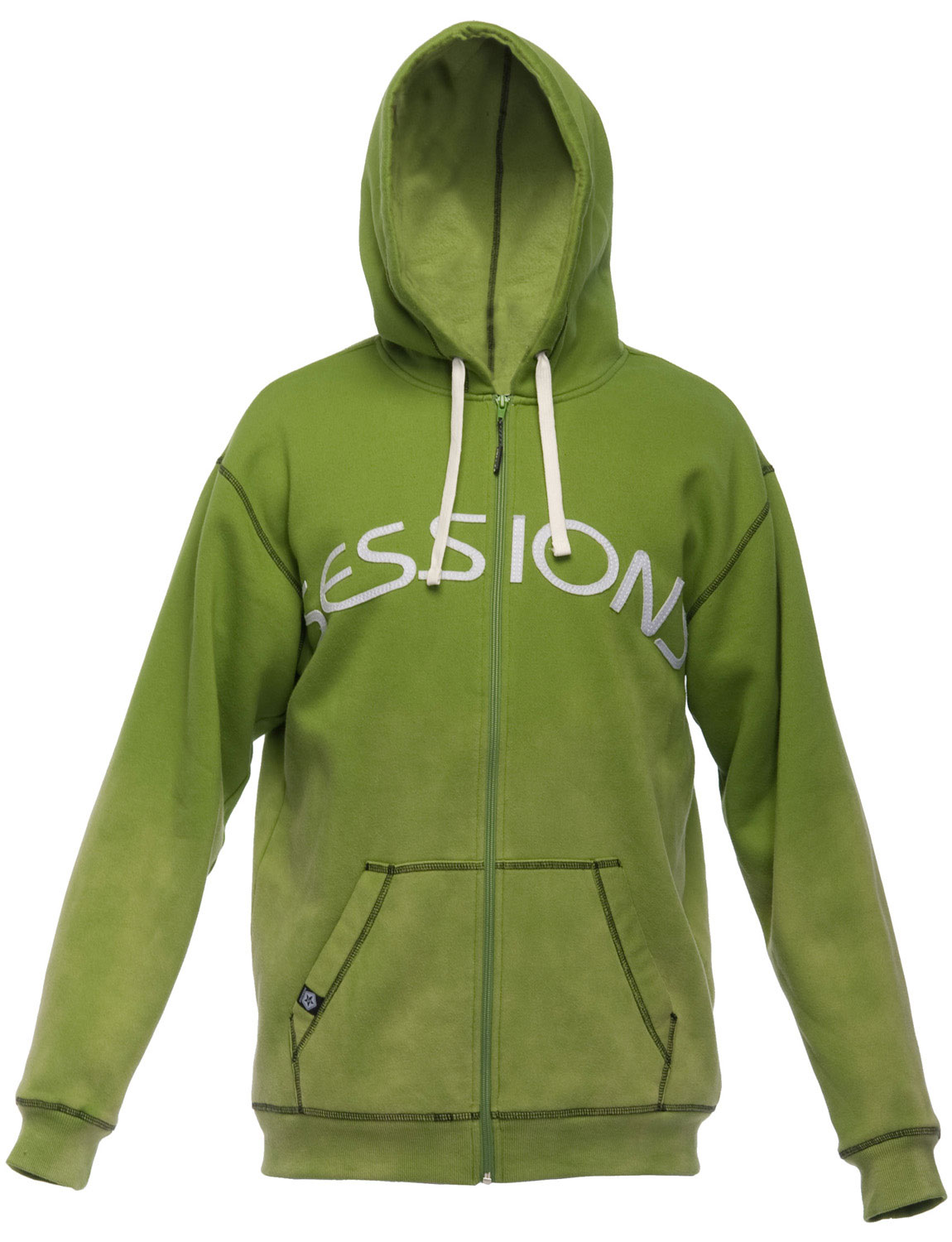 The Sessions Freshman Hoodie. Men's Fleece-Lined Hoodie w/ Felt Patch-On Lettering. - $29.95