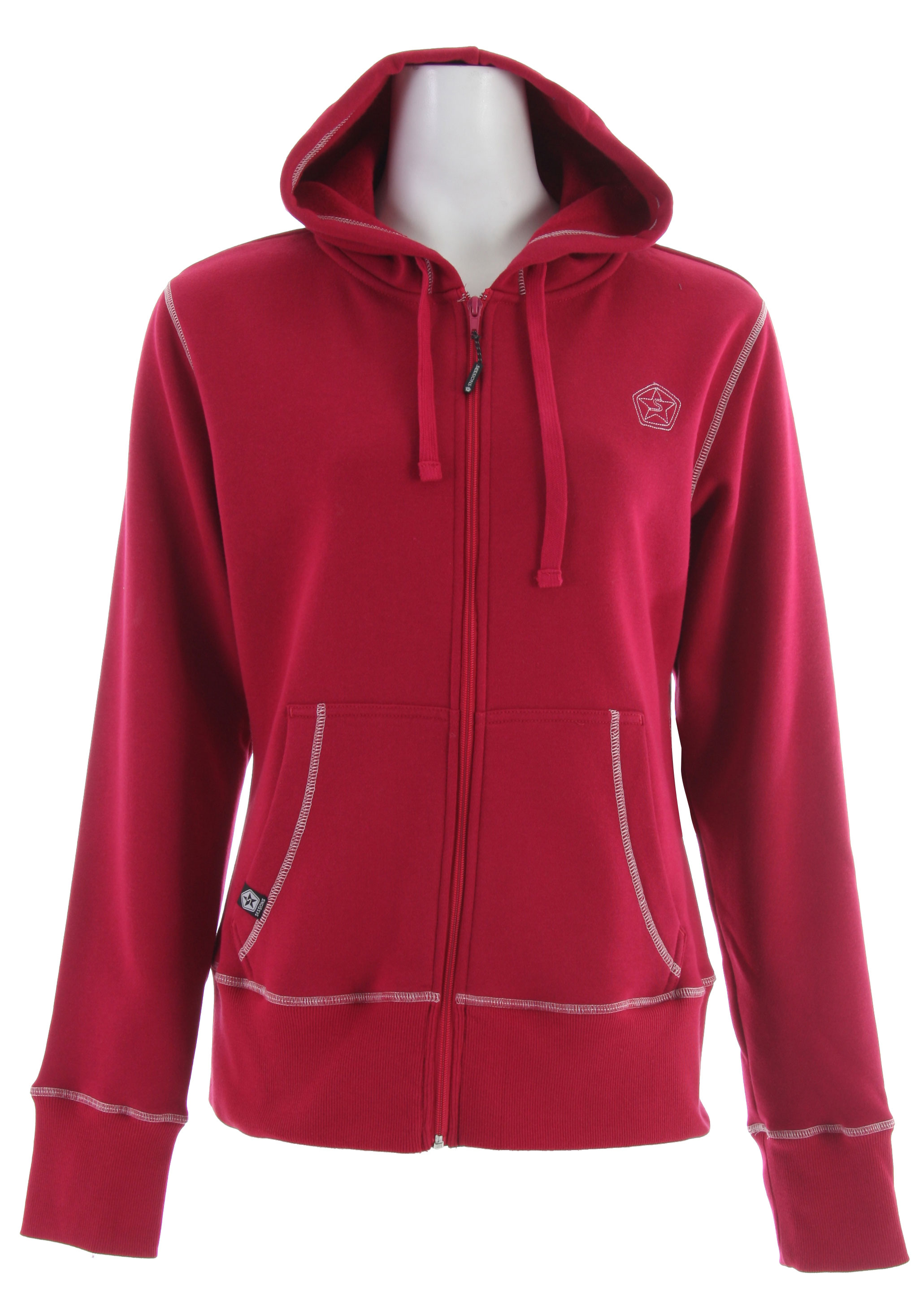 The Sessions Raw Hoodie is a women's fleece lined hoodie with an embroidered logo. - $26.95