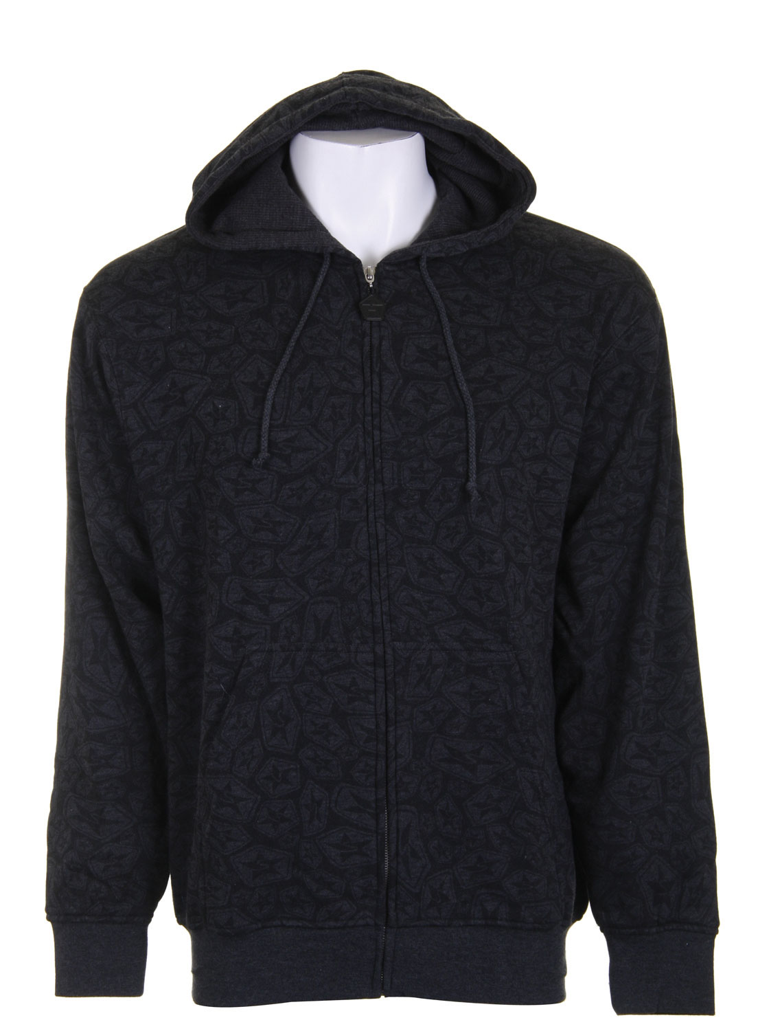 The Sessions Swirl Zip Hoodie Charcoal Heather features a beautifully abstract star and swirl pattern that promises to get you noticed! Made of eighty percent cotton, this lightweight, yet warm sweatshirt will keep you nice and toasty while you are on the move. Its front pockets and drawstring hood make this hoodie comfortable yet functional. Its casual and comfortable style will set you apart from the crowd at a very affordable price. The Sessions Swirl Zip Hoodie is a stylish and affordable addition to any wardrobe.Key Features of The Sessions Swirl Zip Hoodie: All Over Star Swirl Print80% Cotton / 20% Poly - $19.72