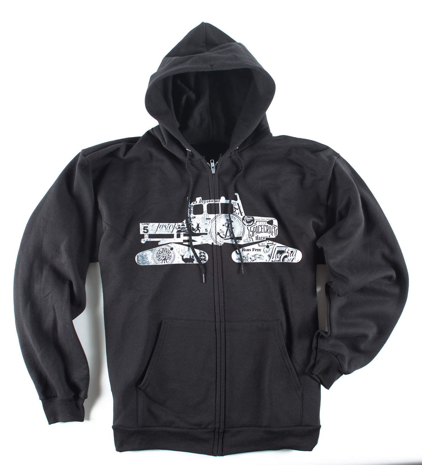 Key Features of the Spacecraft Snowcat Hoodie: Custom body Zip front hoody with chest screen and printed main label on inside neck Material: Polyester/Cotton - $49.95