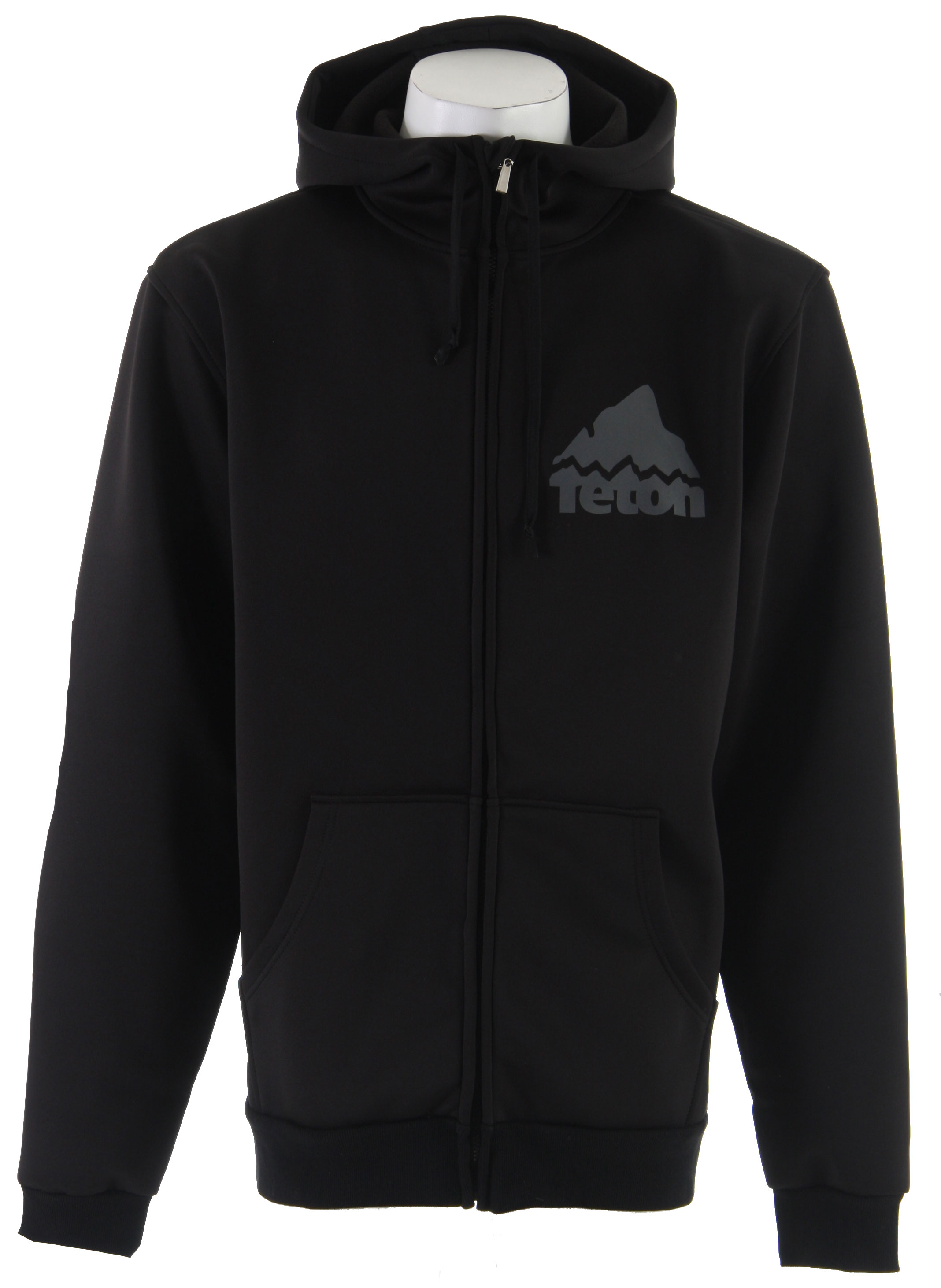 "Ski Everyone knows snagging fresh tracks in bounds sometimes means battling through painful weather. Long after the posers have retreated to the bar, this full-zip hoody will keep you warm and comfortable, so you can tear the goods up.Key Features of the Teton Team Bonded Hoodie Black: Constructed of bonded hard faced fleece Kangaroo Pocket Hidden iPod Pocket with Zip Closure ""Go To"" Foul Weather Layer - $44.95"
